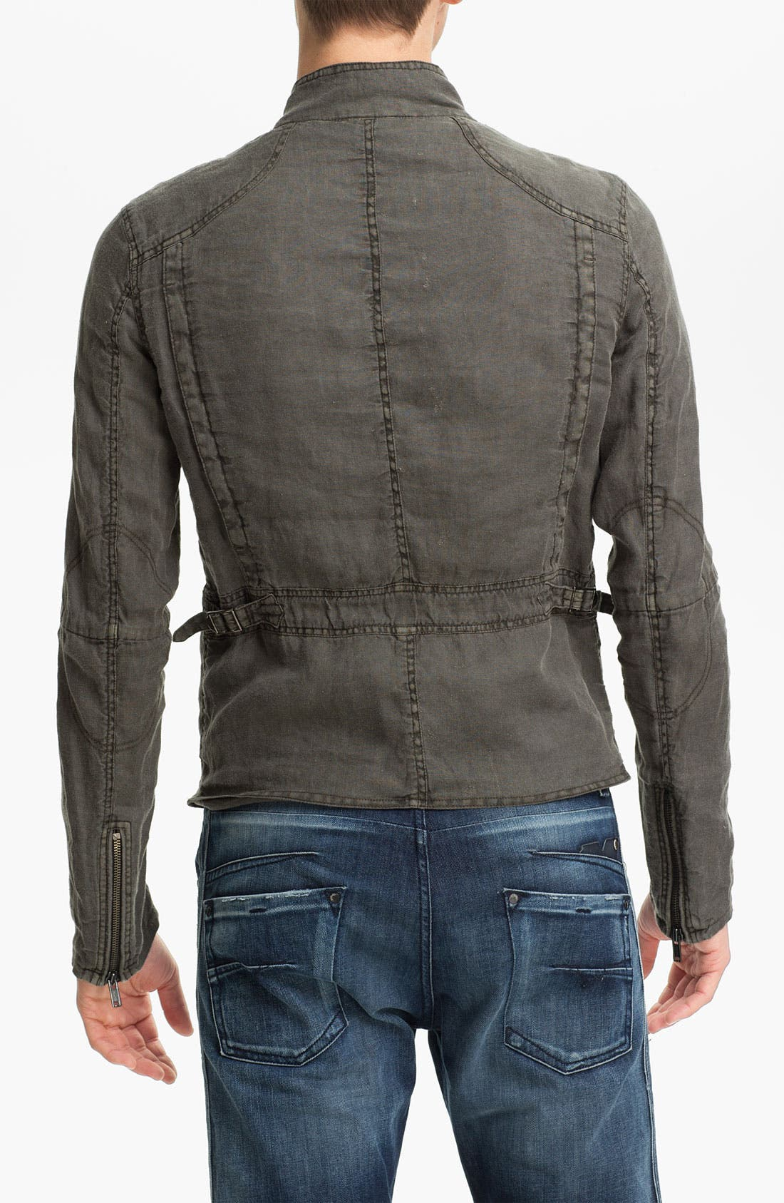 Alternate Image 2  - Rogue Linen Moto Jacket