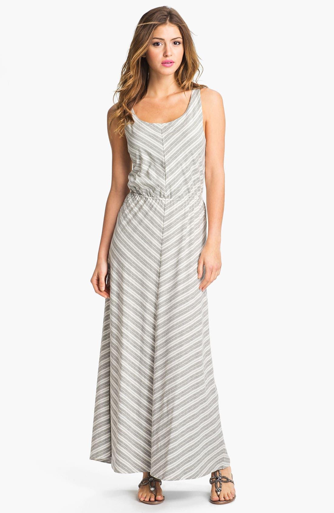Alternate Image 1 Selected - Olive & Oak Chevron Stripe Maxi Dress
