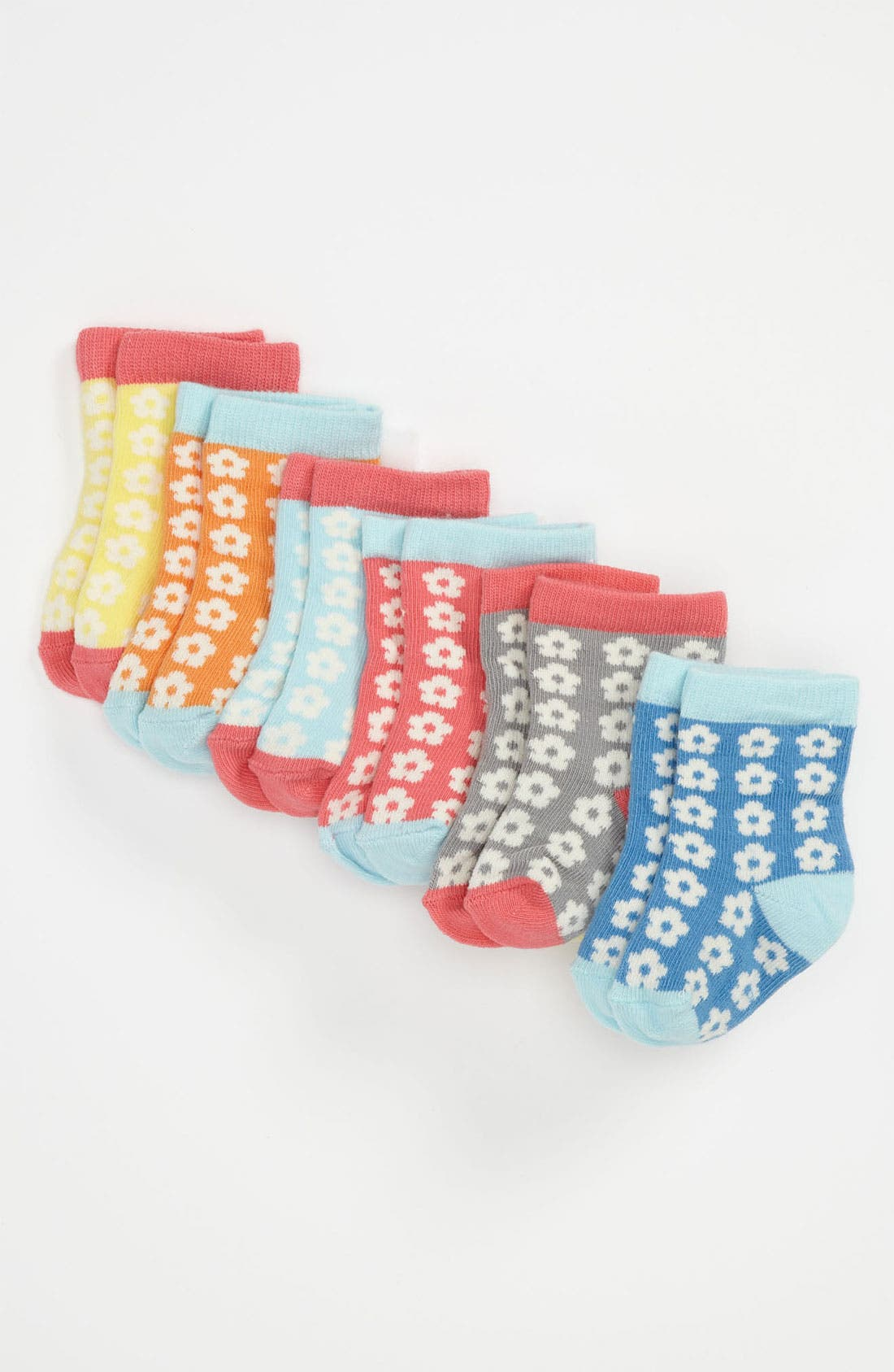 Alternate Image 1 Selected - Stem Baby Pattern Socks (6-Pack)(Baby Girls)