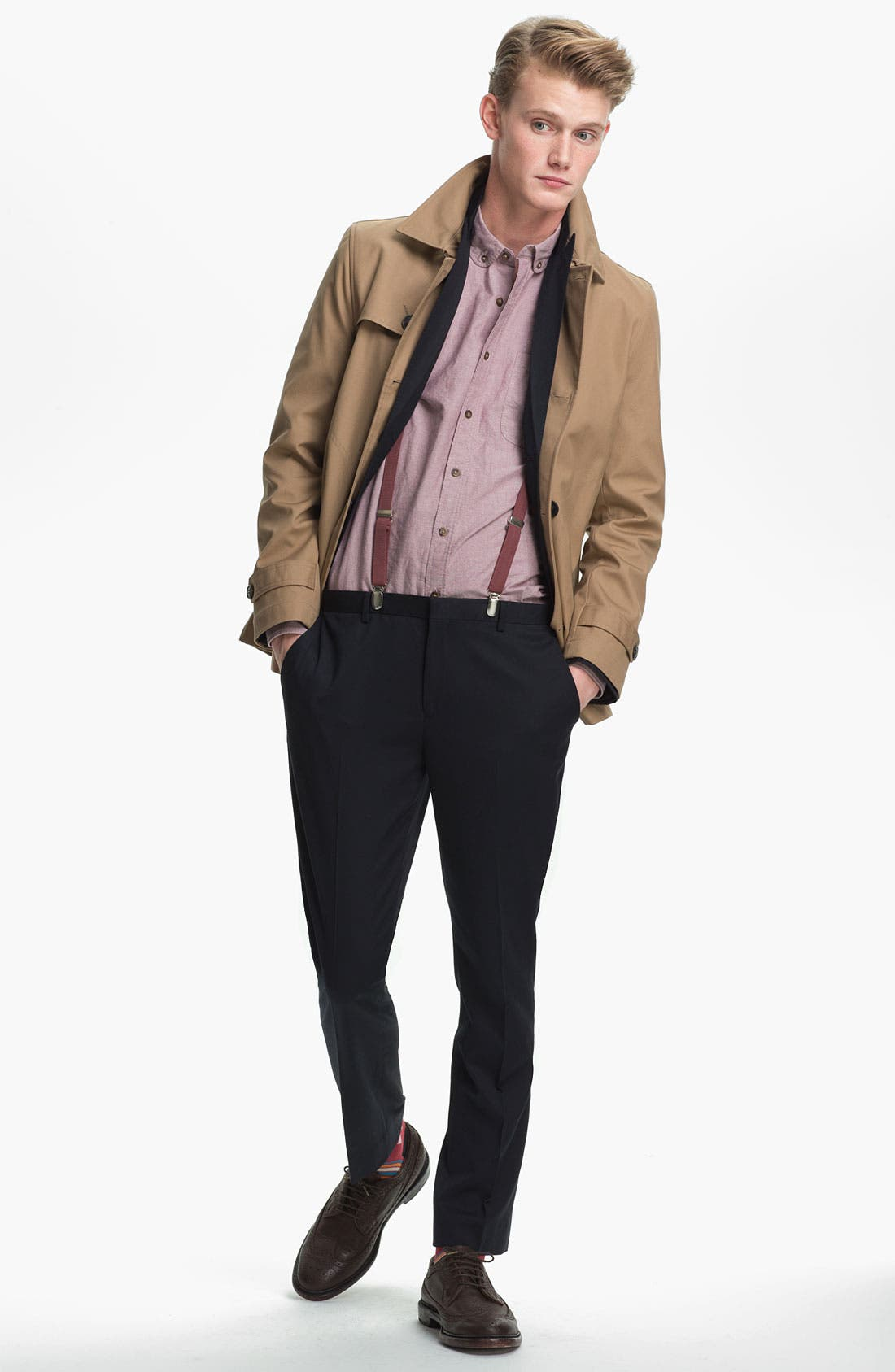 Alternate Image 4  - Topman Double Breasted Mac Jacket
