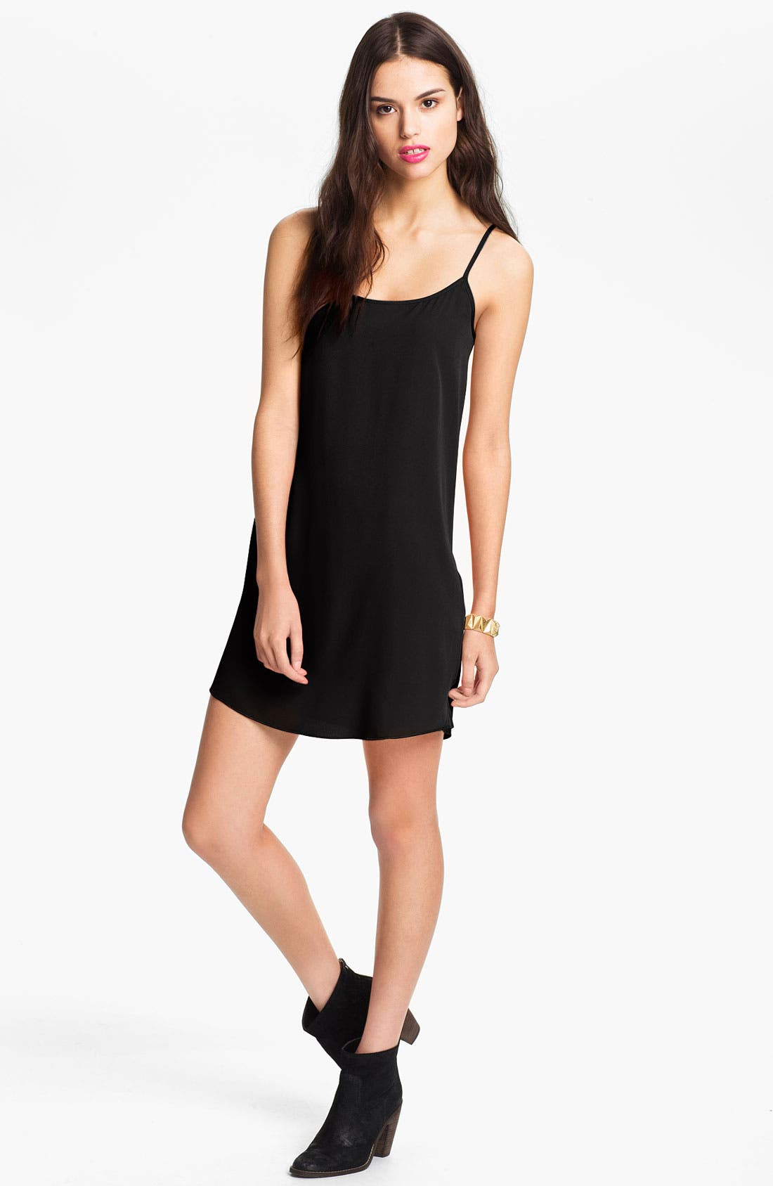 Main Image - Frenchi® Slip Dress (Juniors)