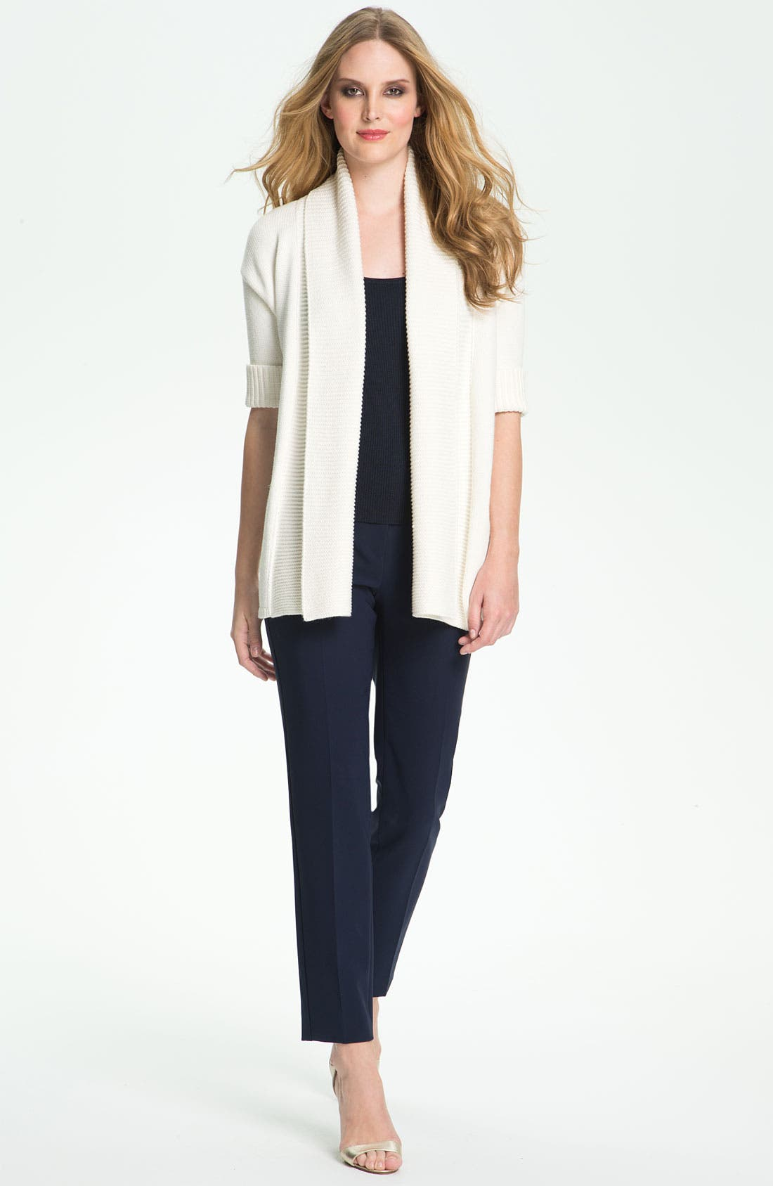 Main Image - St. John Yellow Label Elbow Sleeve Cardigan