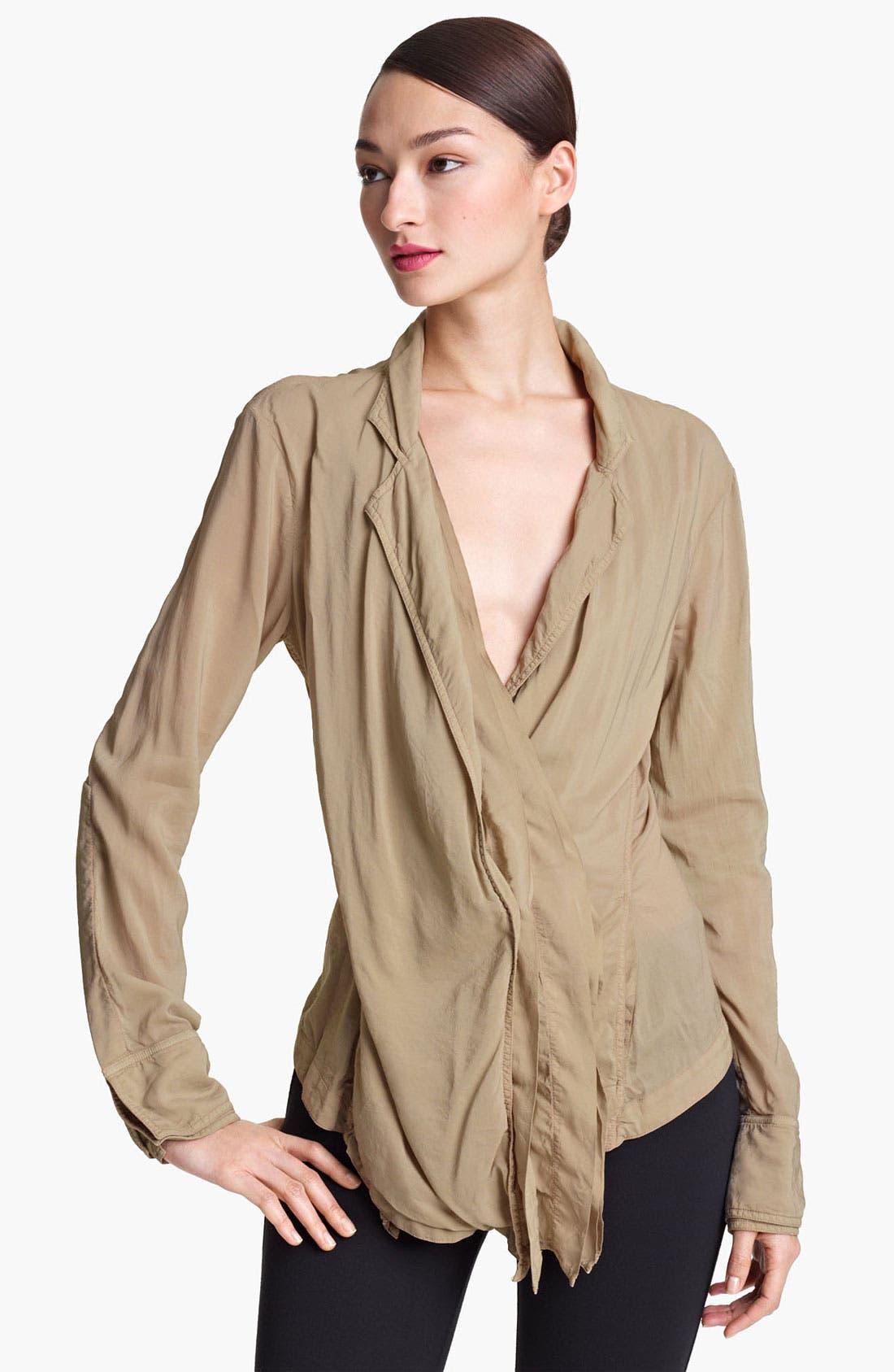 Alternate Image 1 Selected - Donna Karan Collection Crepe Shirt