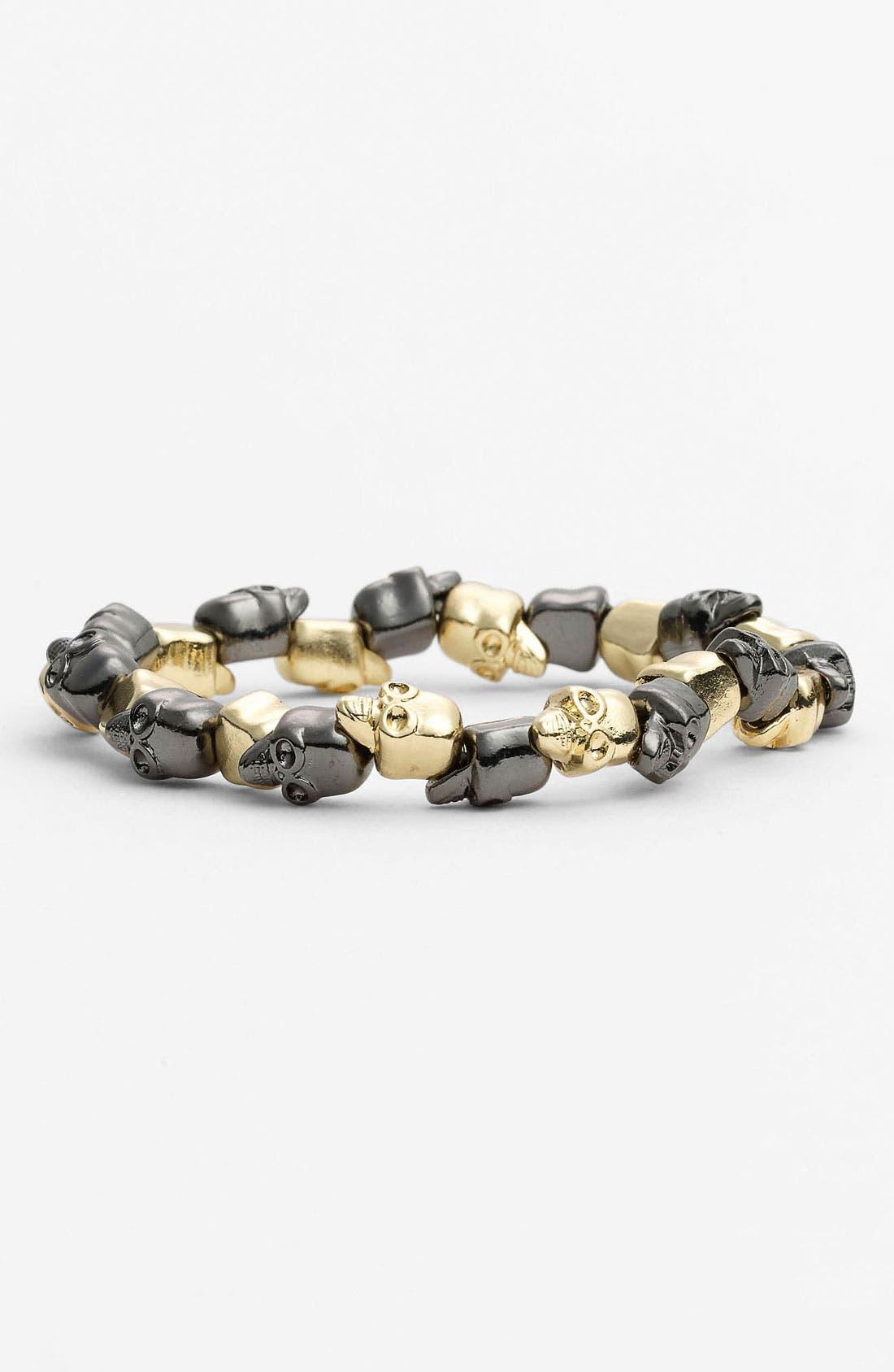 Main Image - Carole Two Tone Skull Bracelet