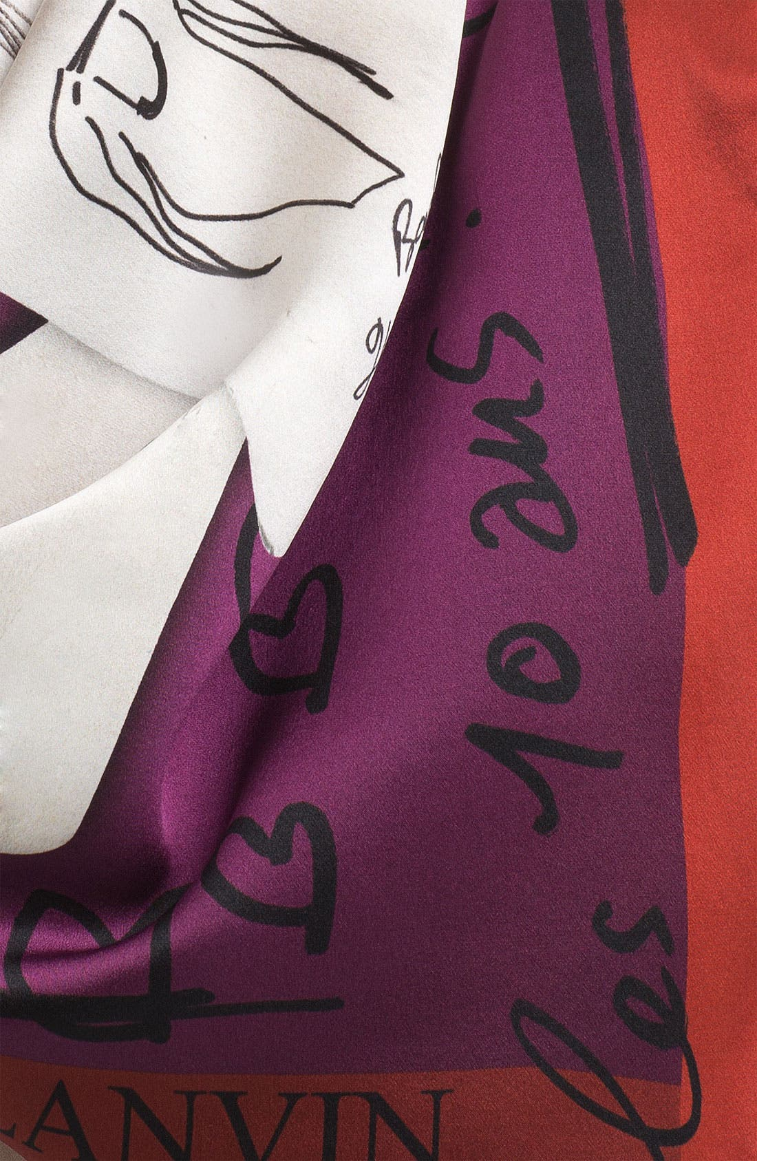 Alternate Image 2  - Lanvin 'Celebration' Square Silk Scarf