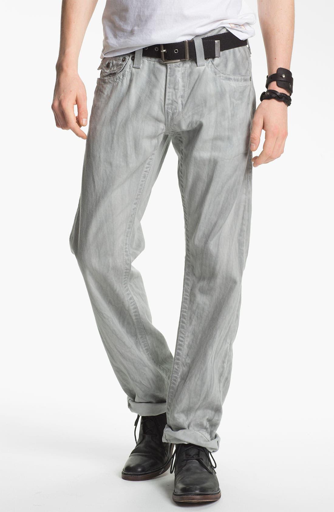 Alternate Image 2  - True Religion Brand Jeans 'Ricky' Straight Leg Jeans (Pebble)