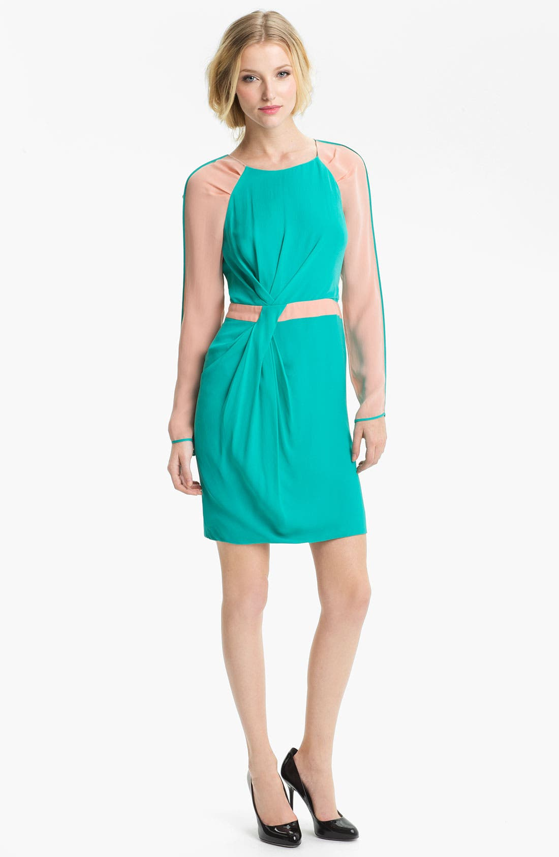 Alternate Image 1 Selected - Rebecca Minkoff 'Sacramento' Colorblock Silk Dress