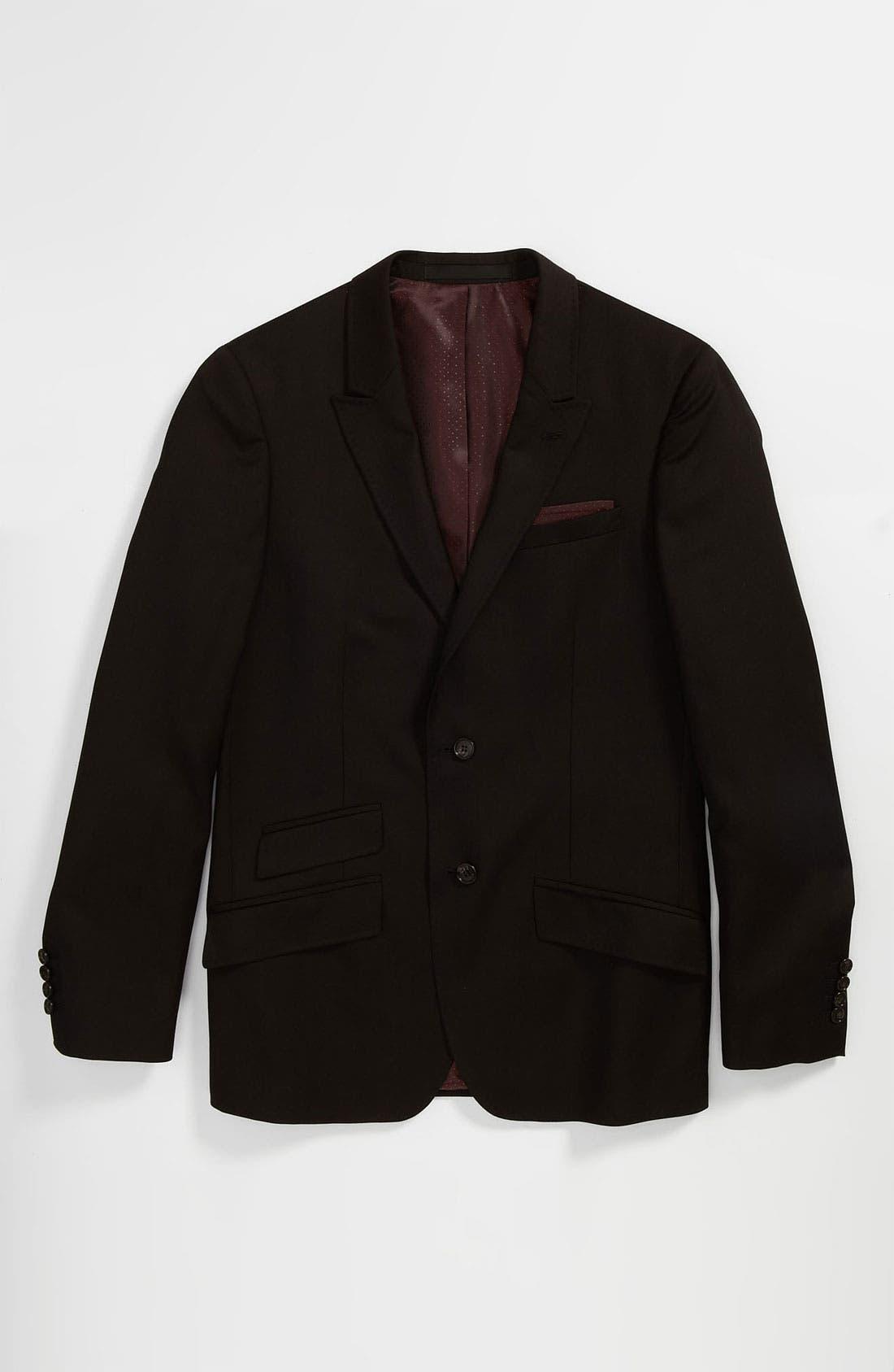 Alternate Image 1 Selected - Topman 'Super Premium - Russo' Trim Fit Blazer