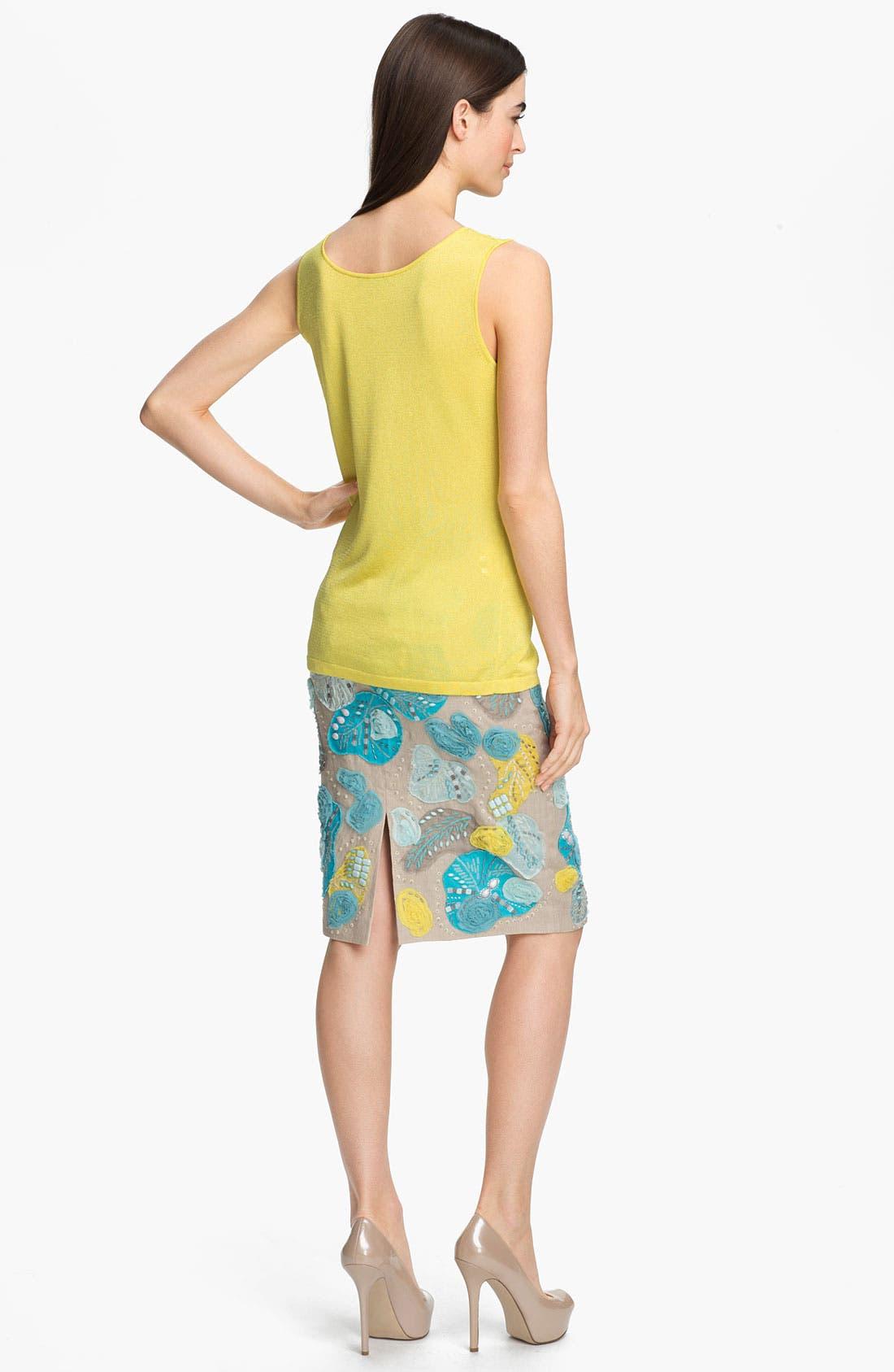 Alternate Image 5  - Lafayette 148 New York Embellished Linen Skirt
