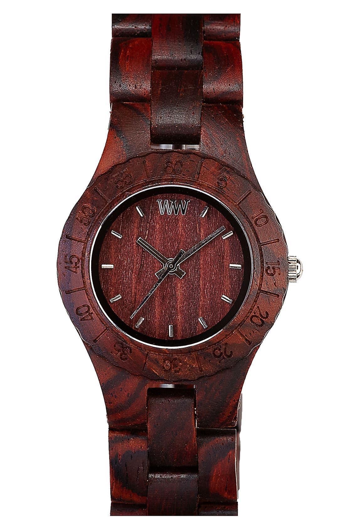 Alternate Image 1 Selected - WeWOOD 'Moon' Wood Watch, 32mm