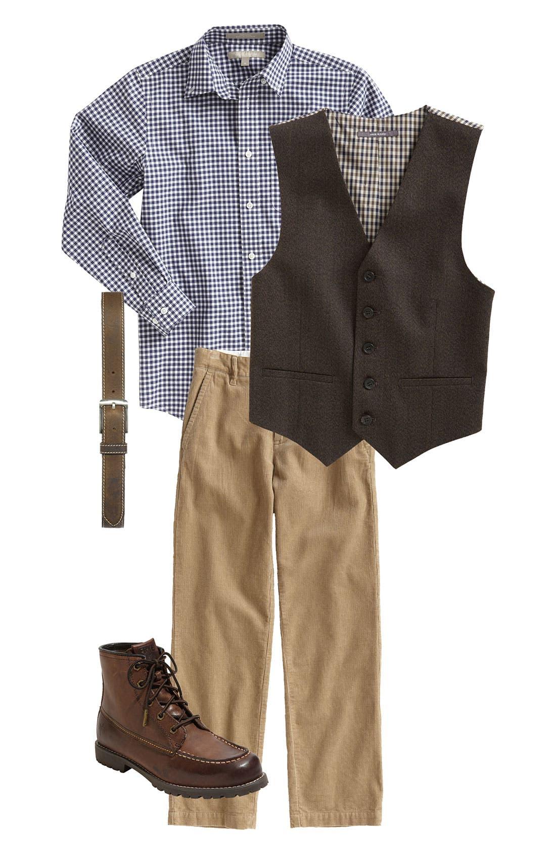 Alternate Image 2  - Nordstrom 'Edward' Corduroy Trousers (Big Boys)