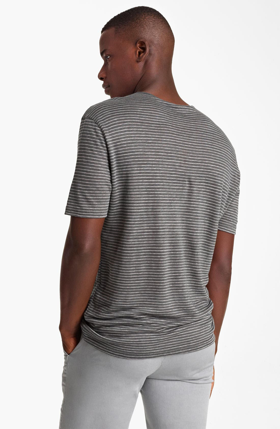 Alternate Image 2  - John Varvatos Collection Stripe Henley T-Shirt