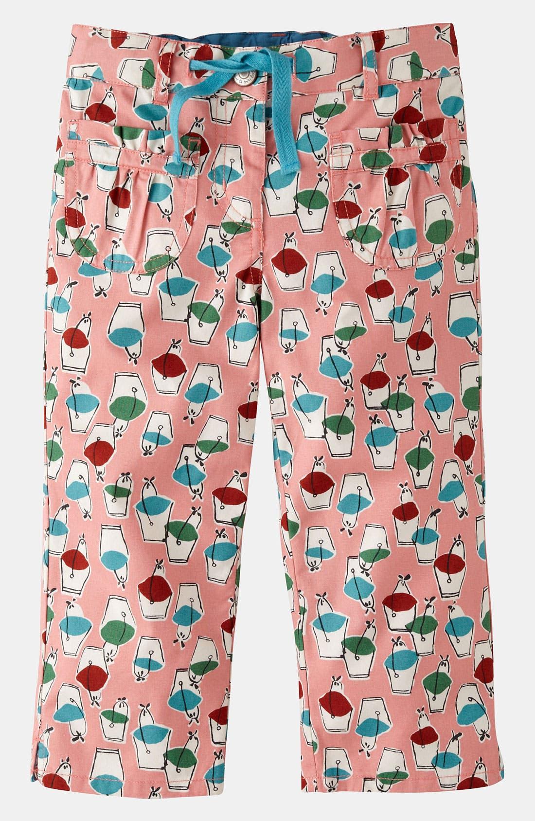 Alternate Image 1 Selected - Mini Boden Print Capri Pants (Little Girls & Big Girls)