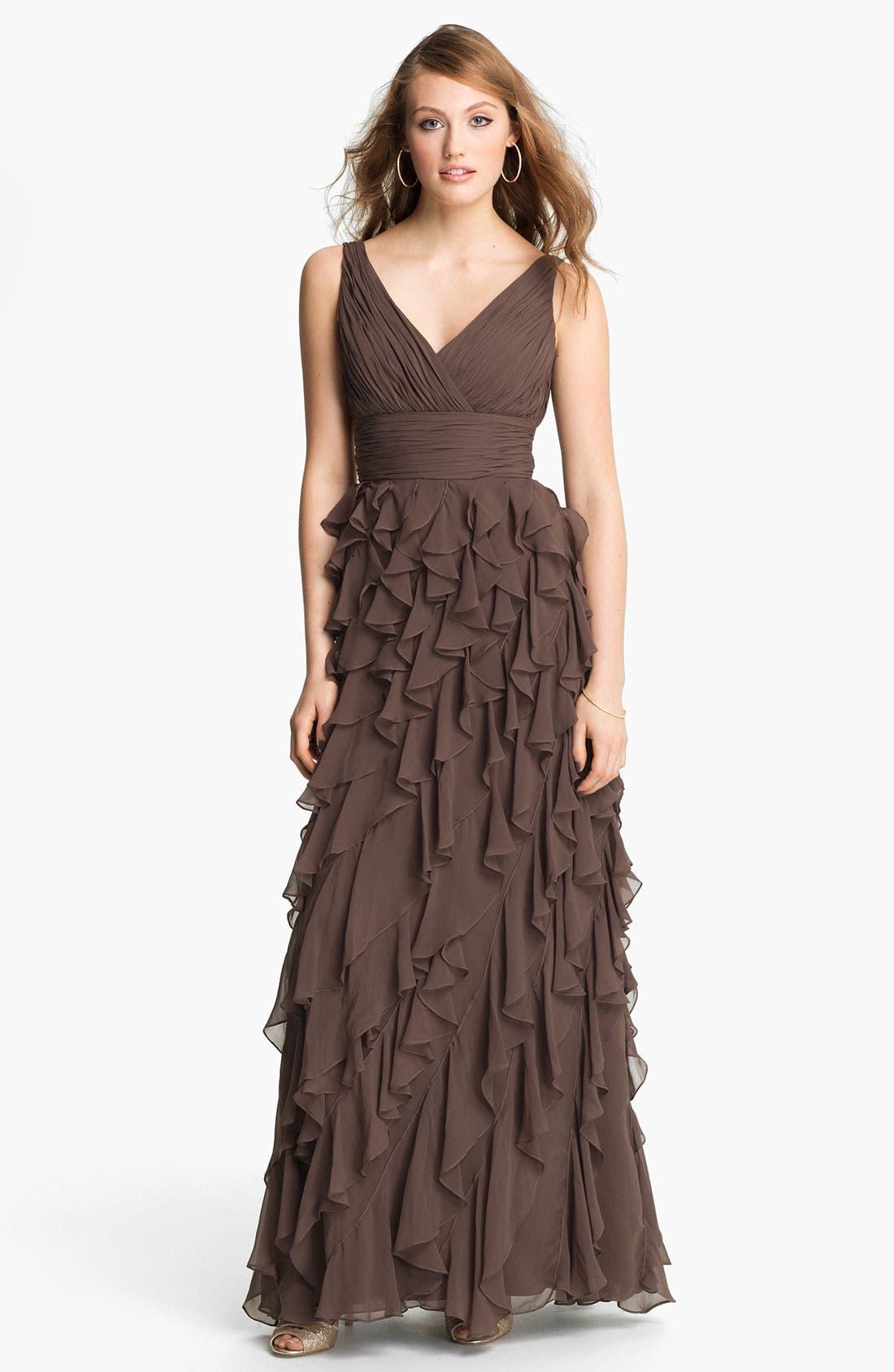 Alternate Image 1 Selected - Dalia MacPhee Ruffle Chiffon Gown