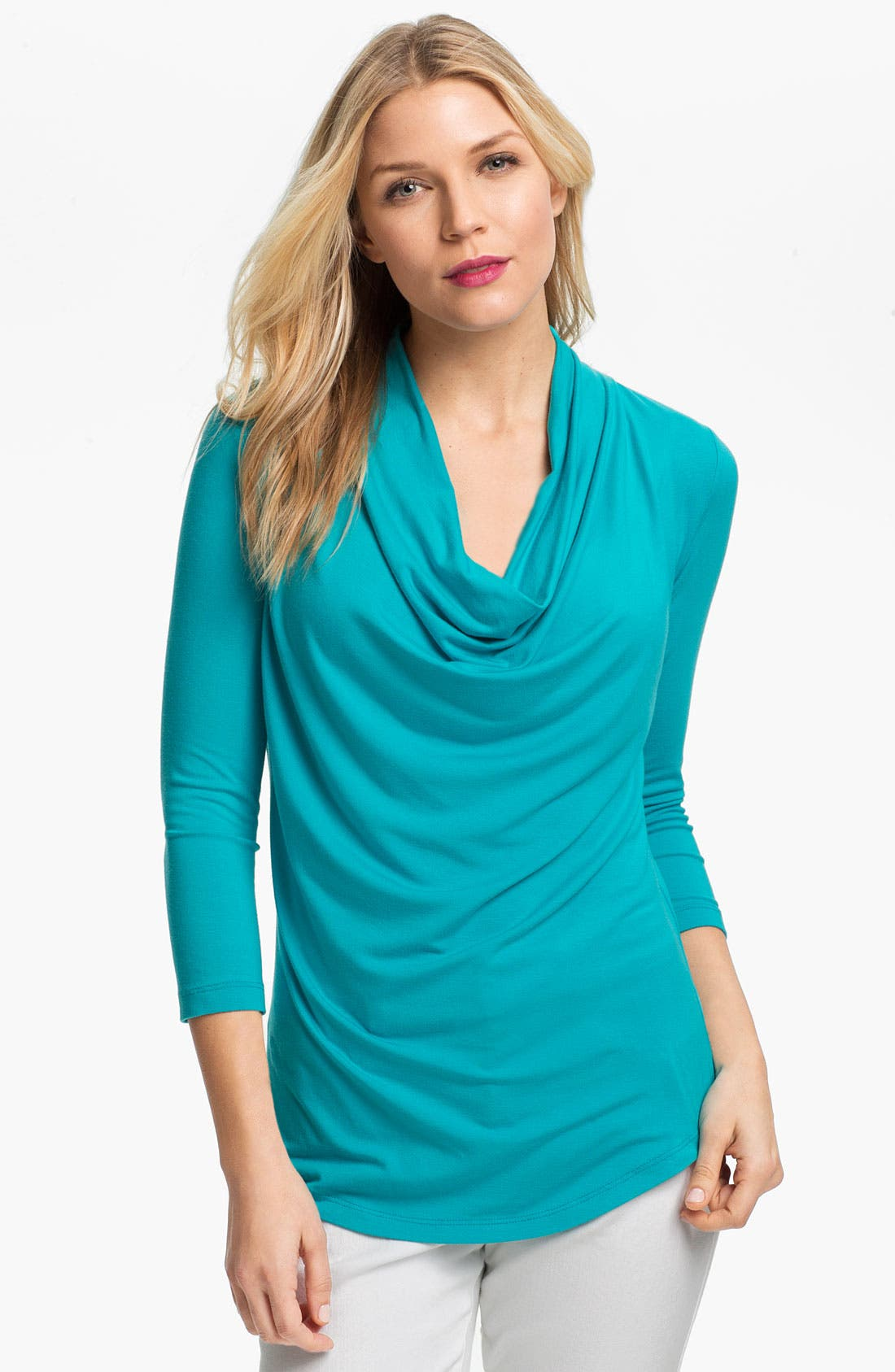 Alternate Image 1 Selected - Karen Kane Drape Front Top