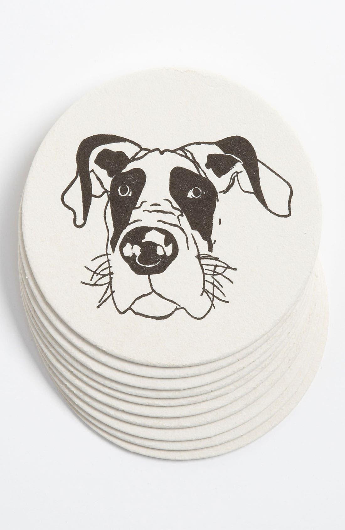 Main Image - 'Great Dane' Letterpress Coasters (Set of 10)