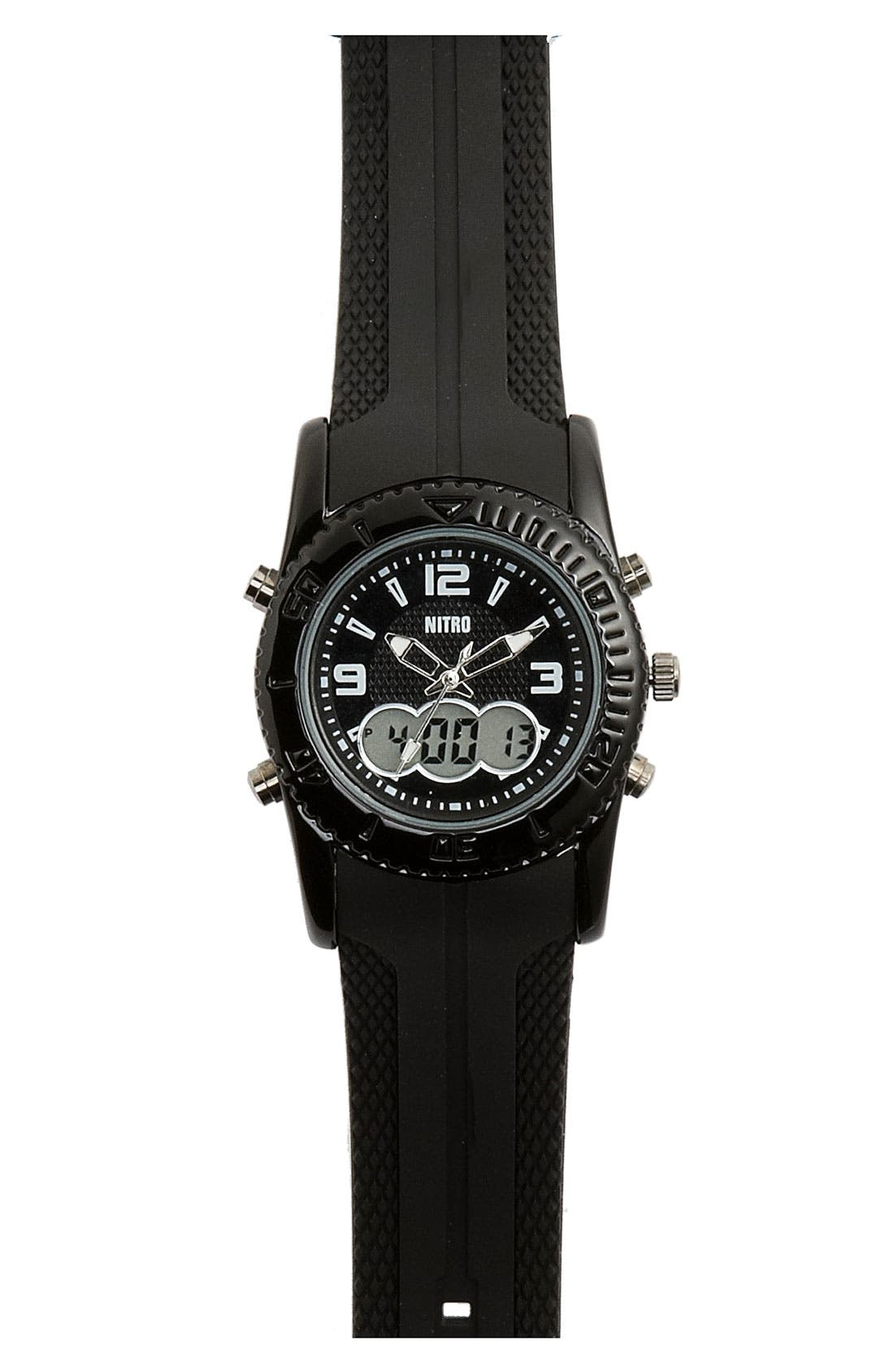 Alternate Image 1 Selected - Nitro Analog/Digital Watch (Big Boys)