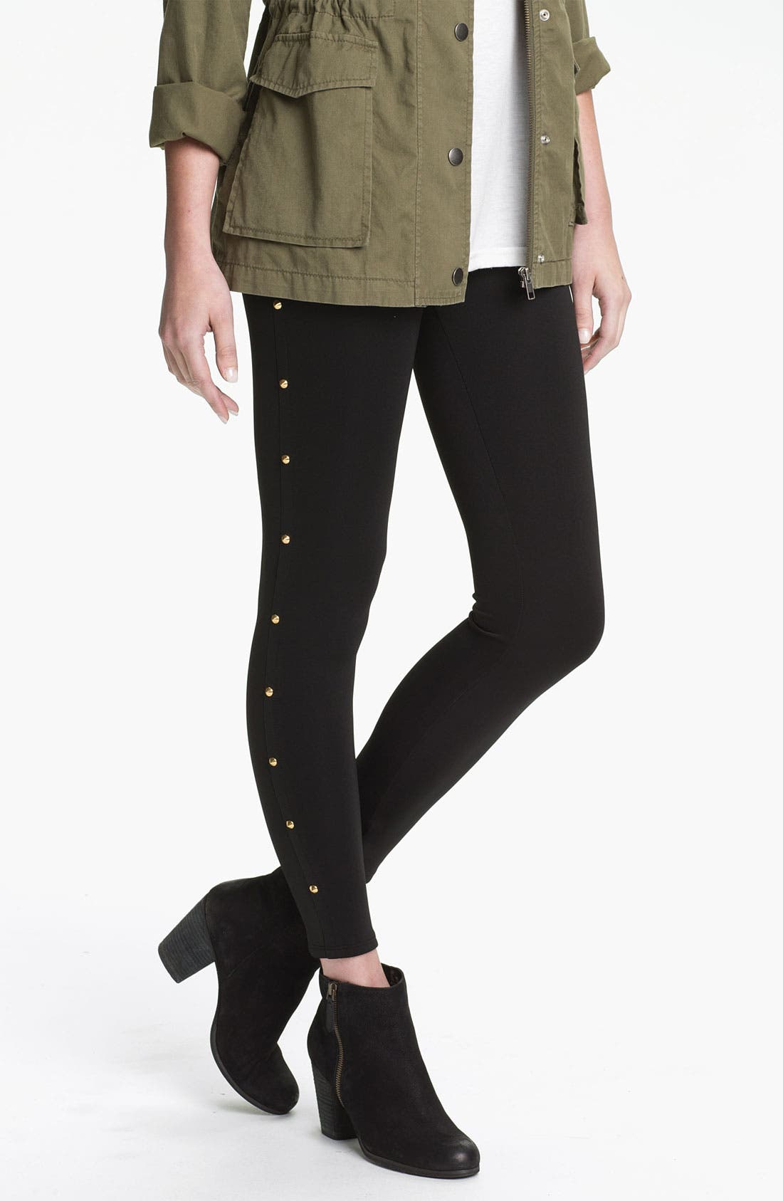 Alternate Image 1 Selected - Soprano Studded Leggings (Juniors)
