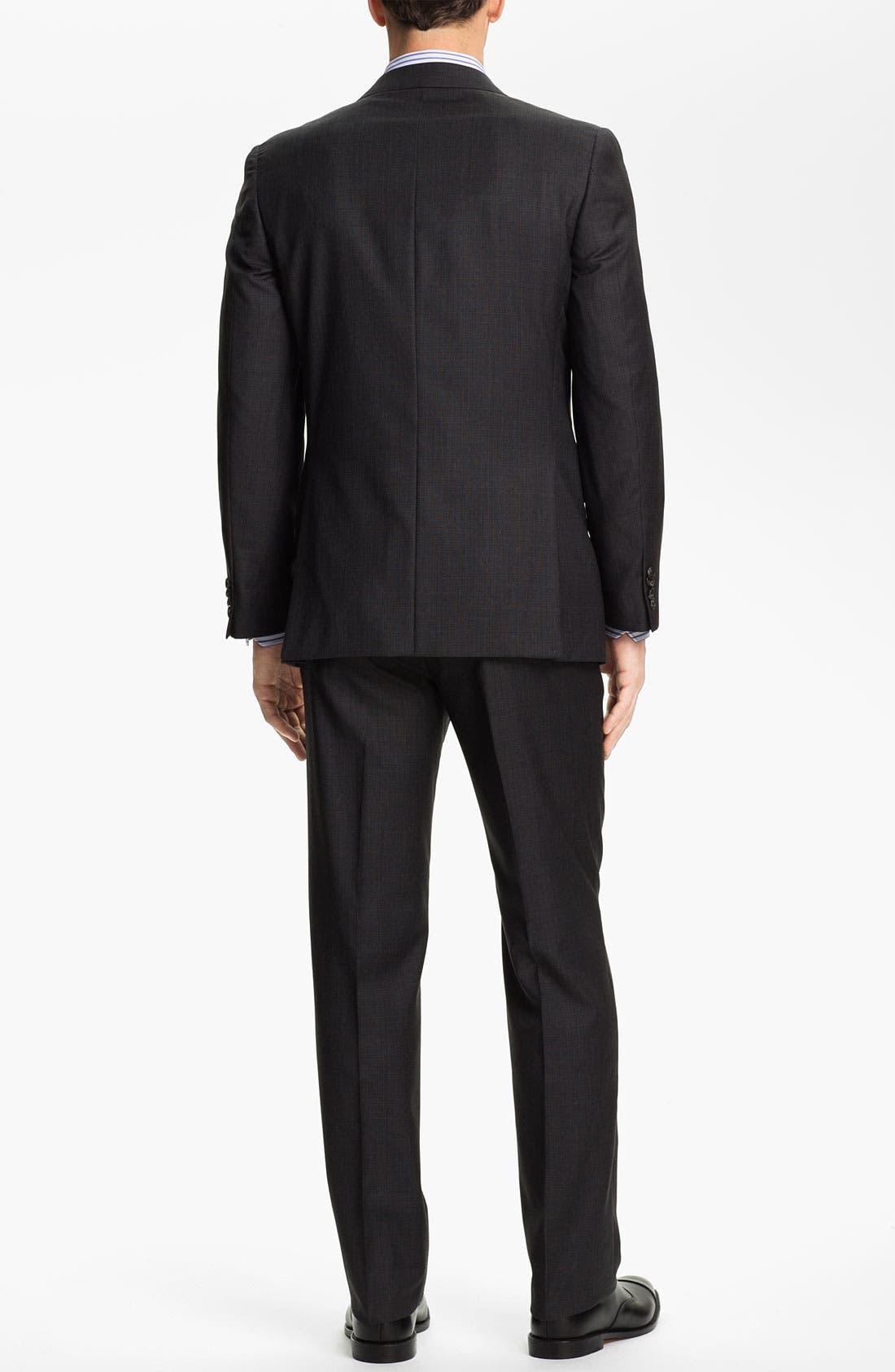 Alternate Image 3  - Joseph Abboud Charcoal Plaid Wool Suit