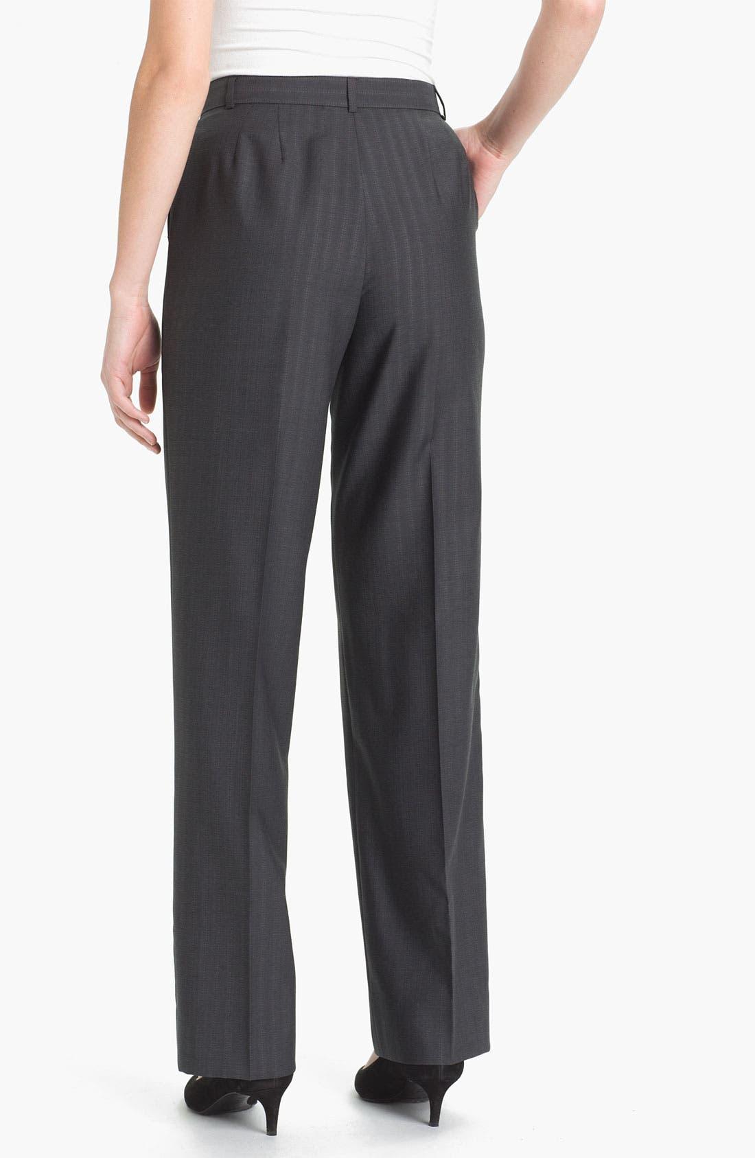 Alternate Image 2  - Zanella 'Goldie' Tonal Stripe Wool Pants