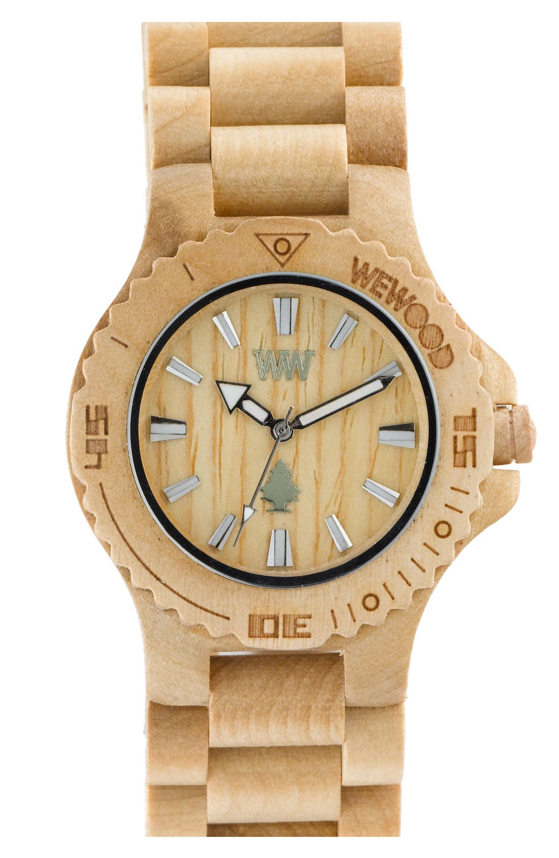 Main Image - WeWOOD 'Date' Bracelet Watch, 40mm