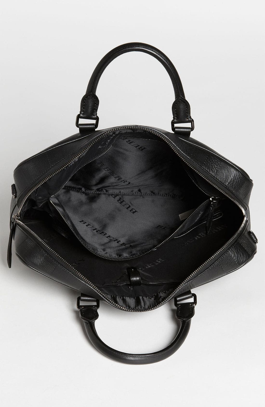 Alternate Image 3  - Burberry 'Maxwell' Check Embossed Leather Briefcase