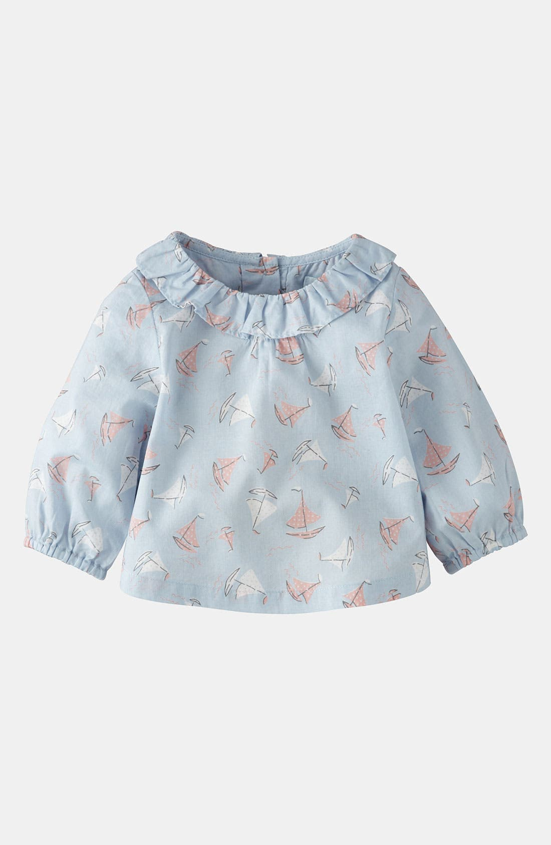 Alternate Image 1 Selected - Mini Boden 'Pretty' Woven Top (Baby)