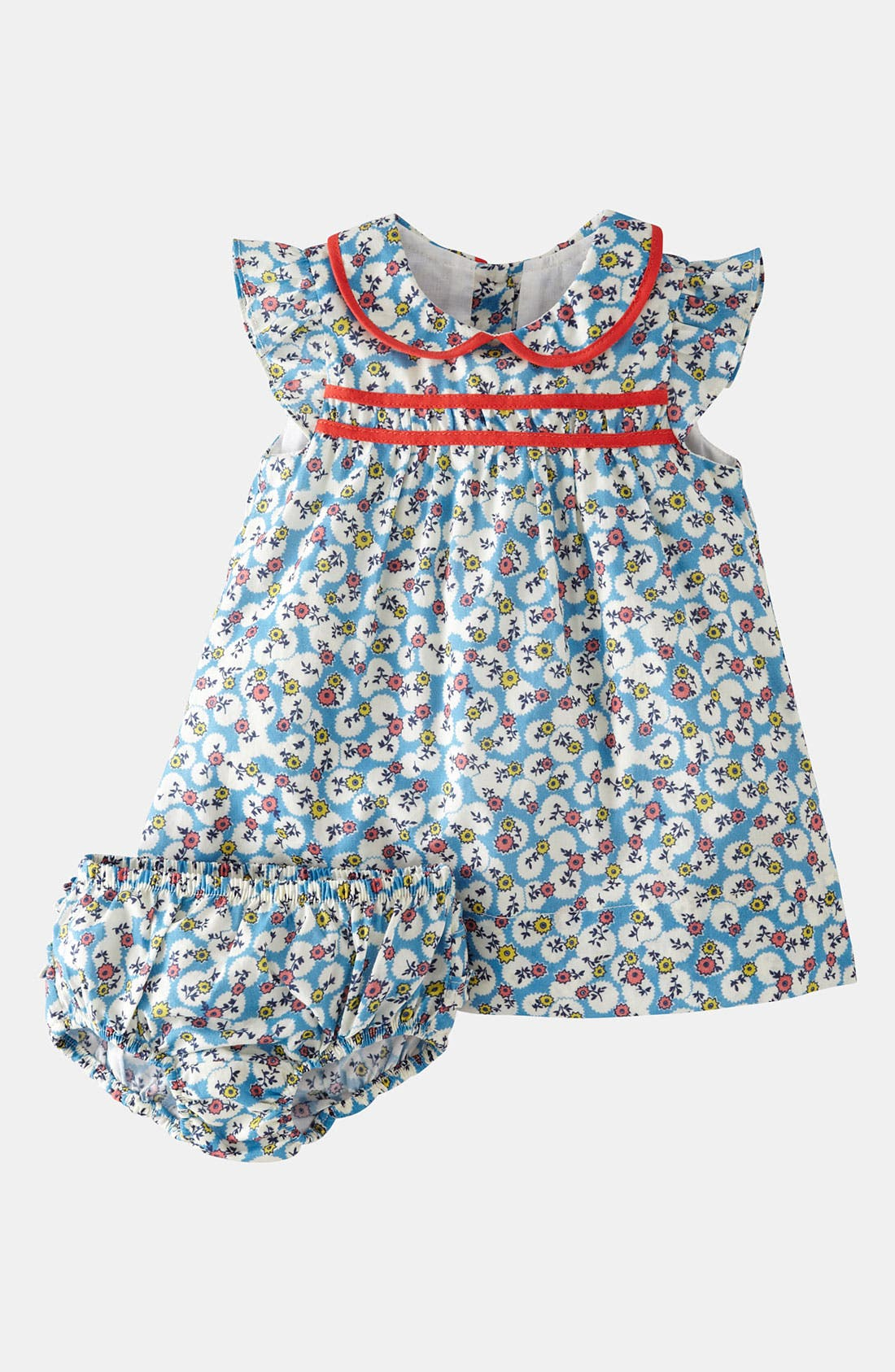 Main Image - Mini Boden 'Pretty Tea' Dress & Bloomers (Infant)