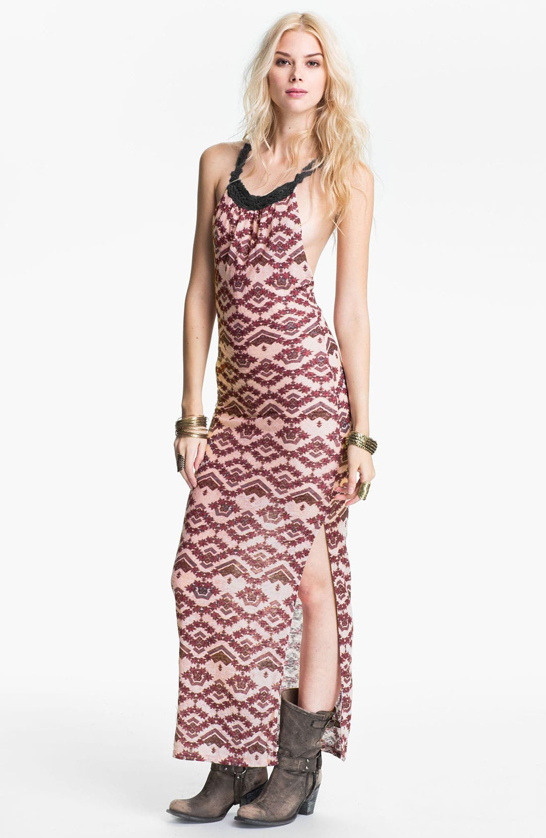 Main Image - Free People Crochet Racerback Maxi Dress