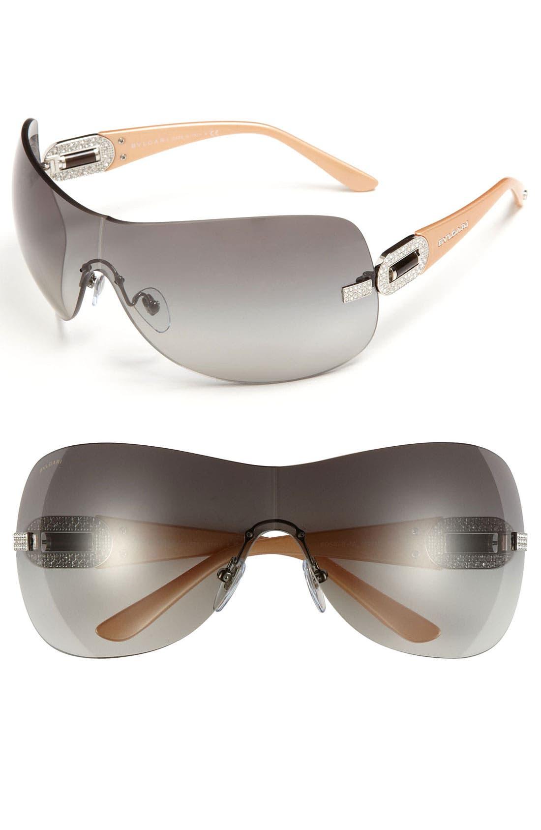 Alternate Image 1 Selected - BVLGARI 'Icona' Shield Sunglasses