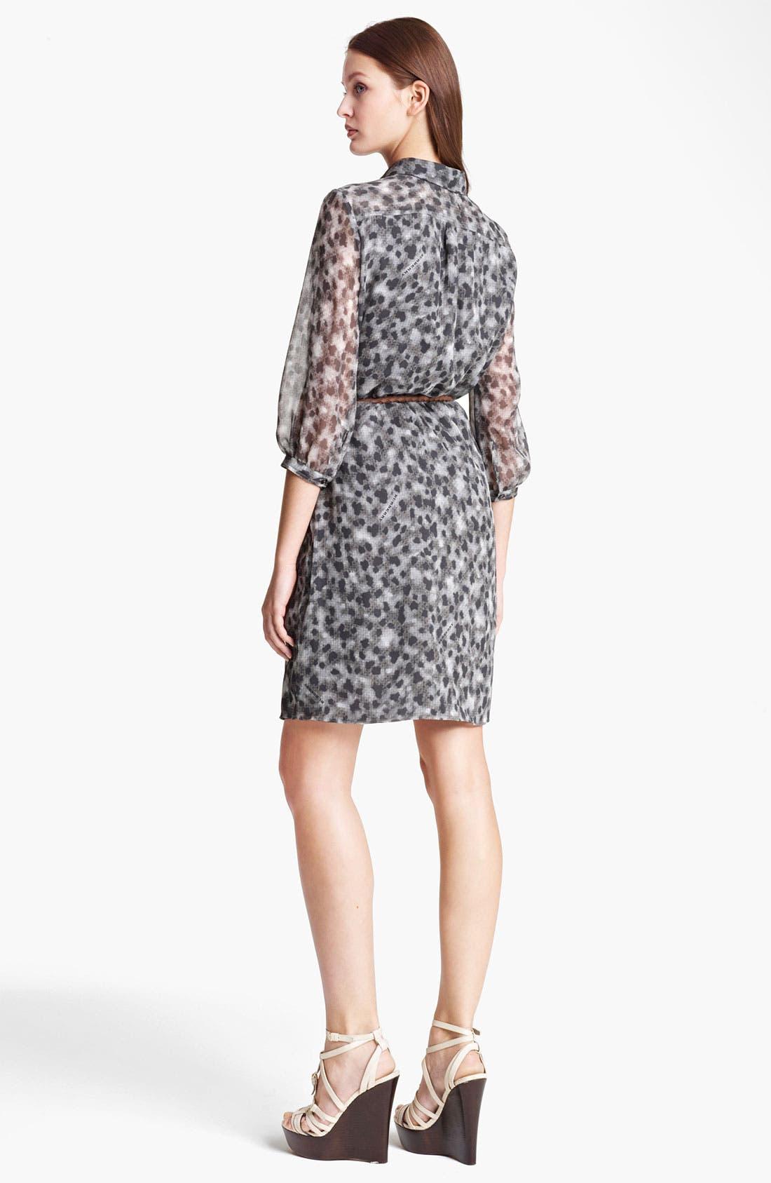 Alternate Image 2  - Burberry Brit Leopard Print Silk Dress