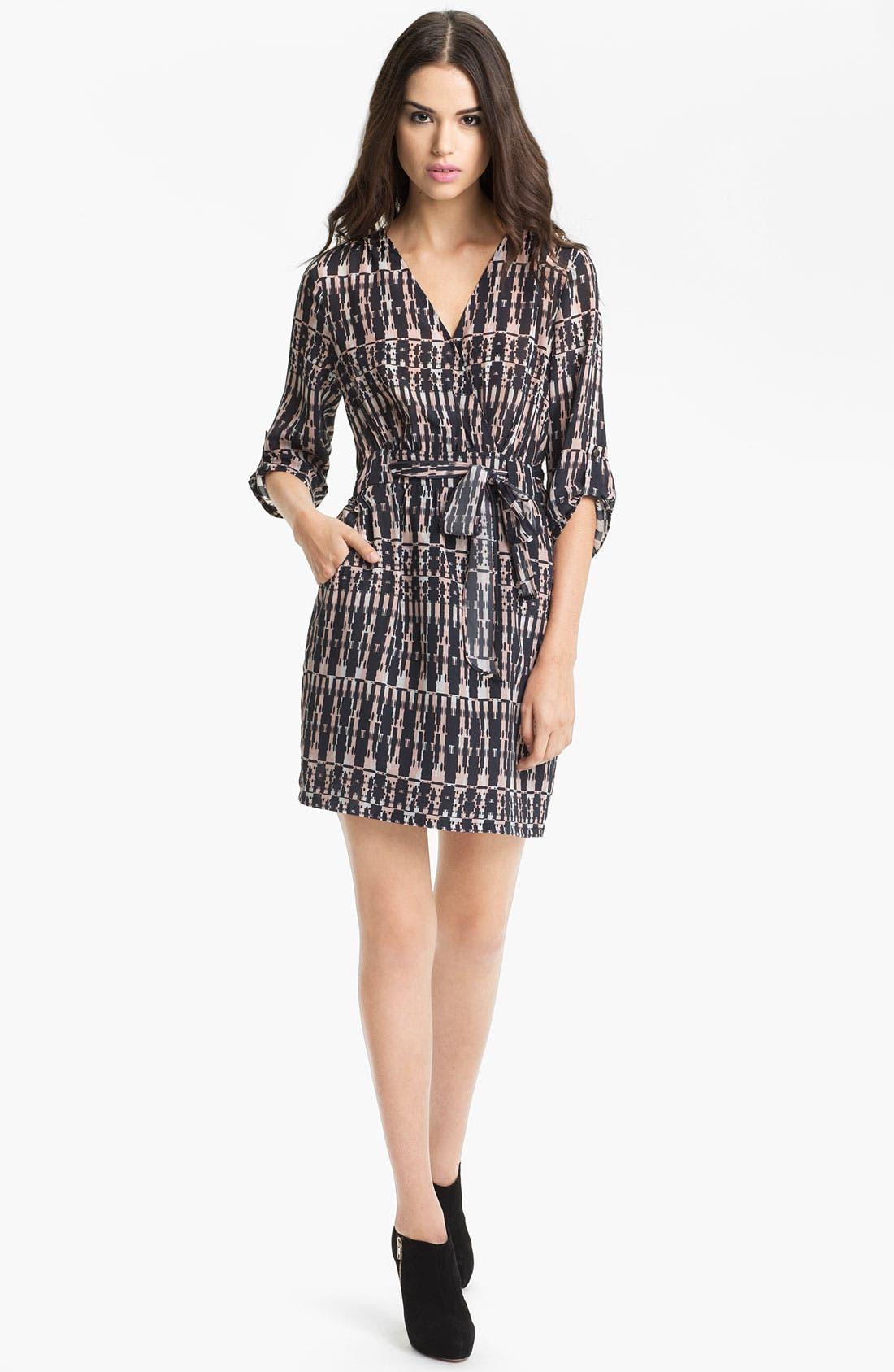 Main Image - Presley Skye 'Amy' Silk Faux Wrap Dress