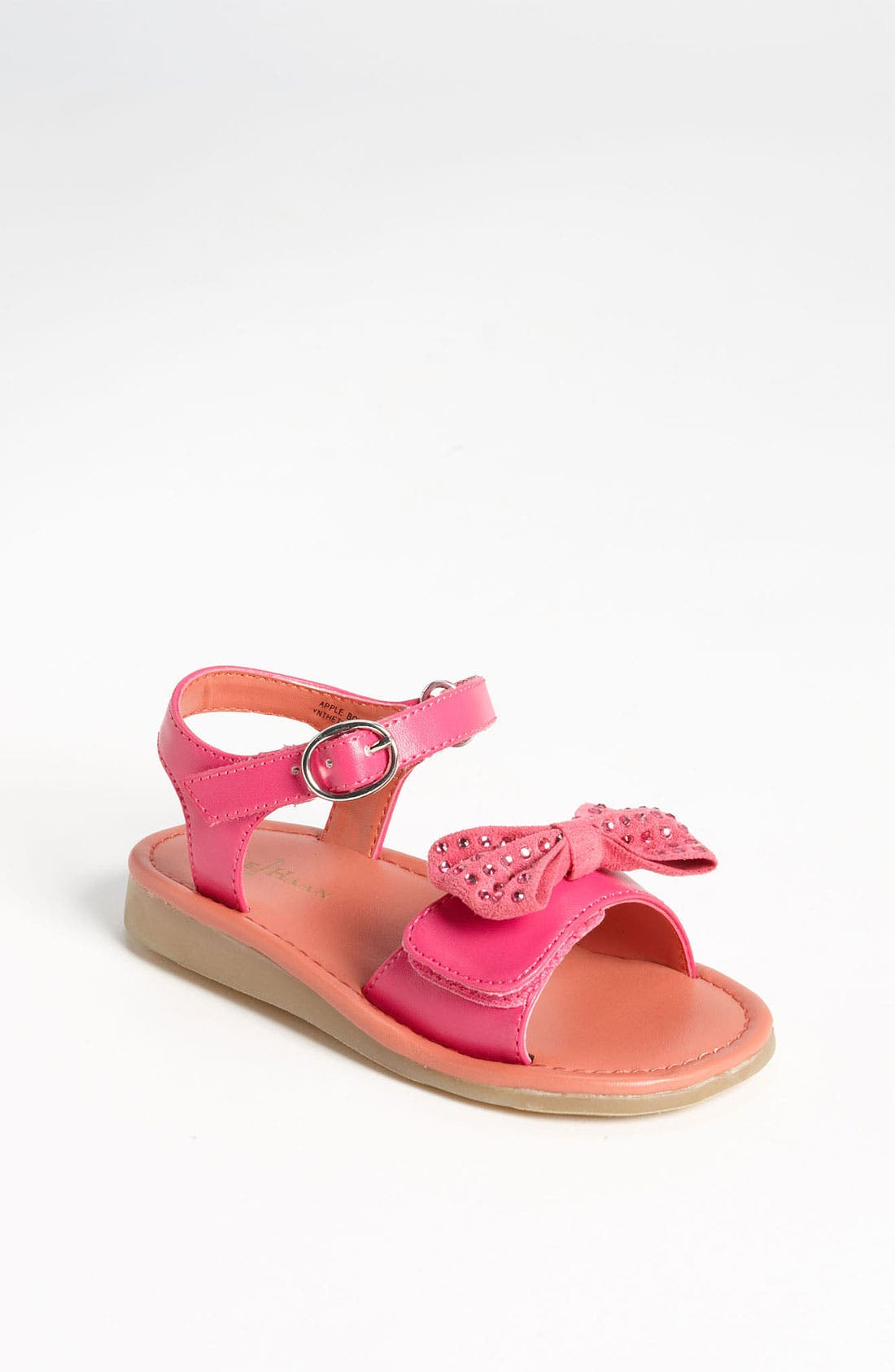 Alternate Image 1 Selected - Cole Haan 'Apple Bow' Sandal (Walker & Toddler)