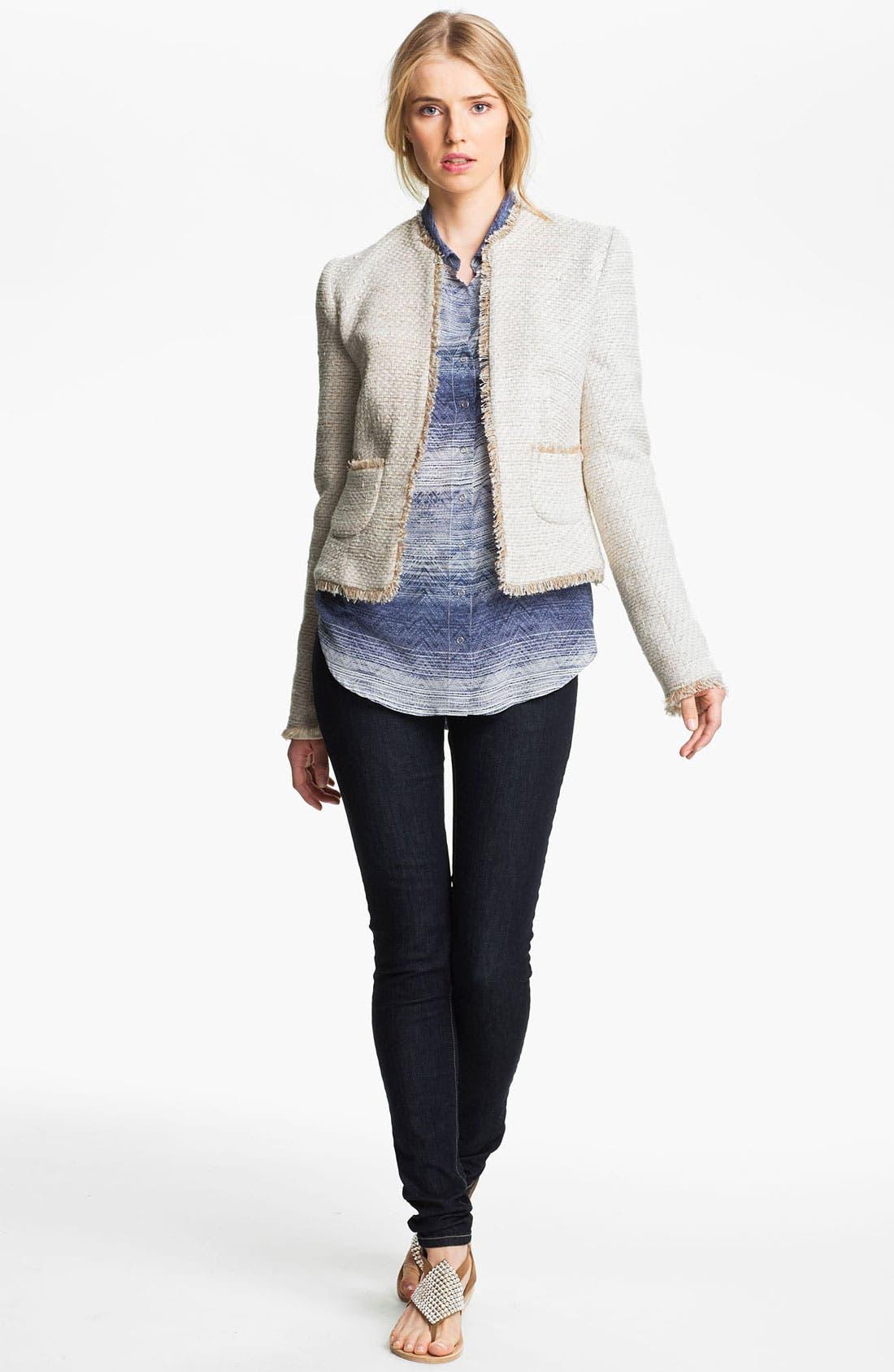 Main Image - L'AGENCE Frayed Woven Jacket