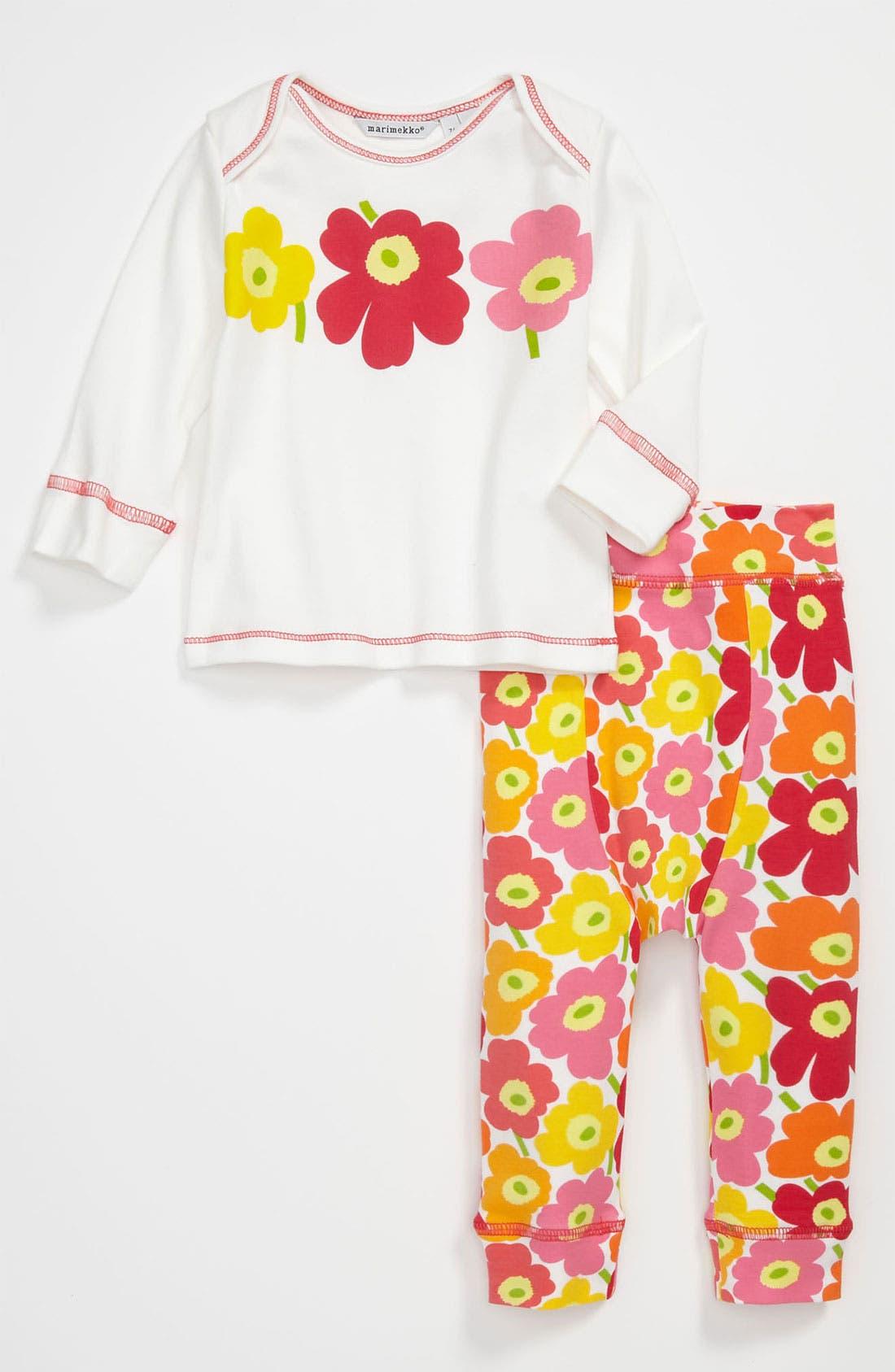 Main Image - Marimekko 'Unikko' Print Top & Leggings (Infant)