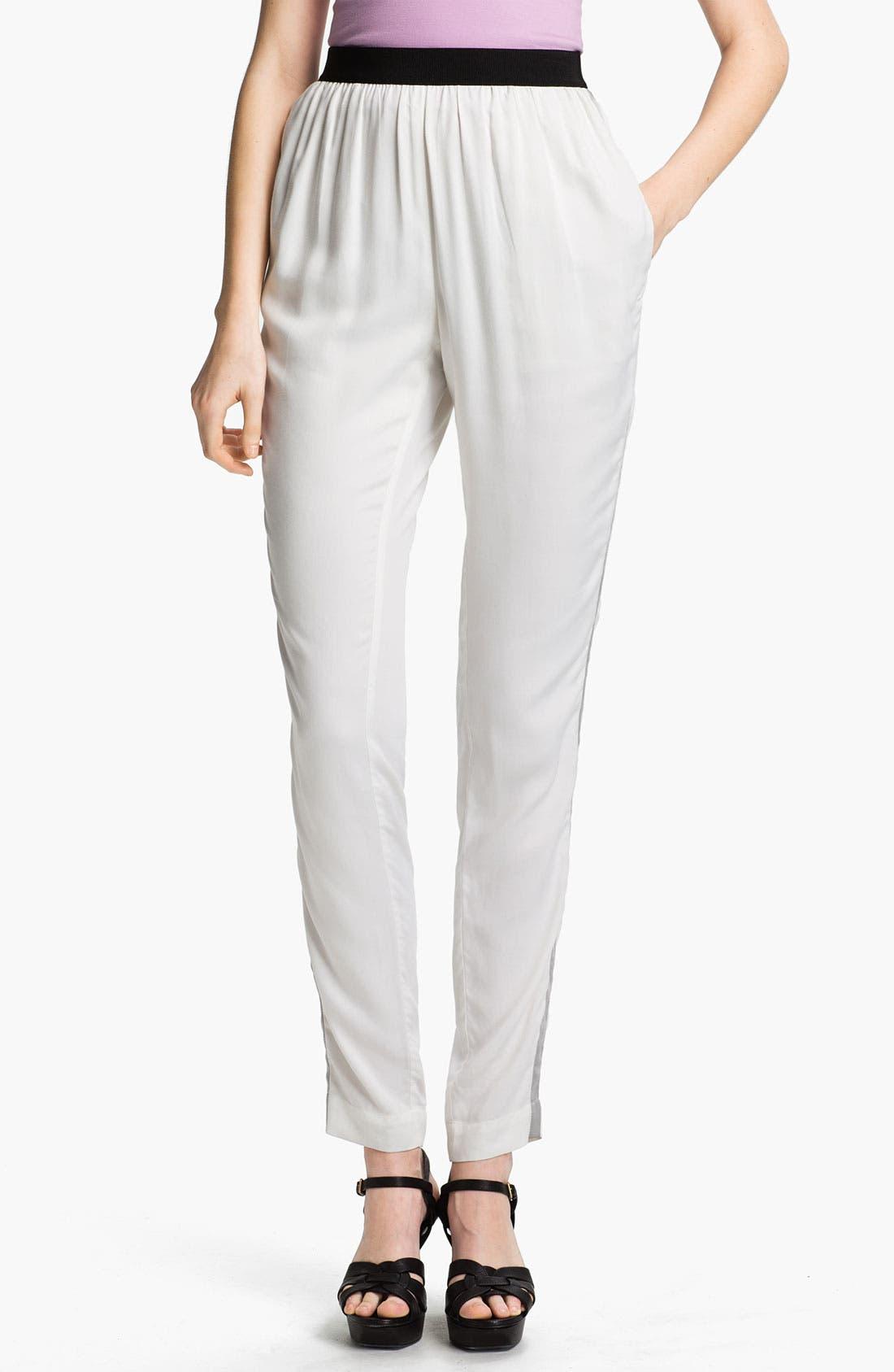 Main Image - L'AGENCE Tuxedo Stripe Twill Pants