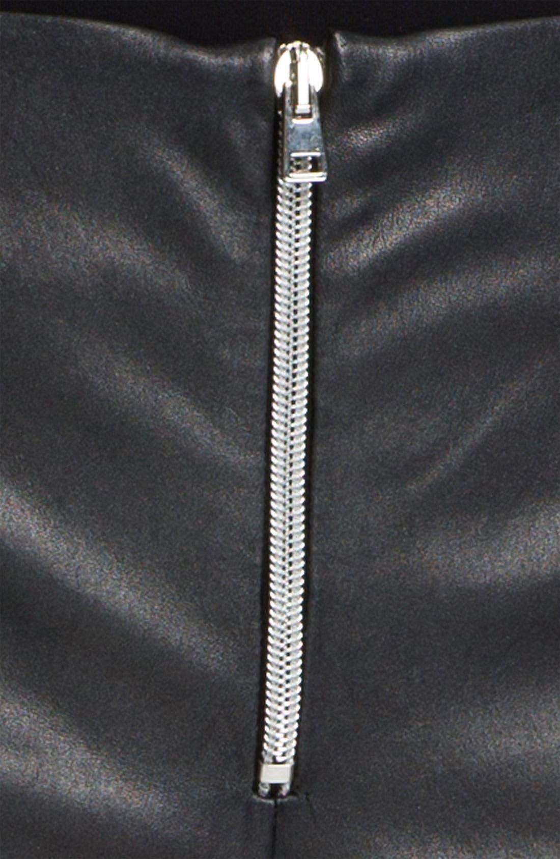 Alternate Image 3  - L'AGENCE Lambskin Leather Shorts