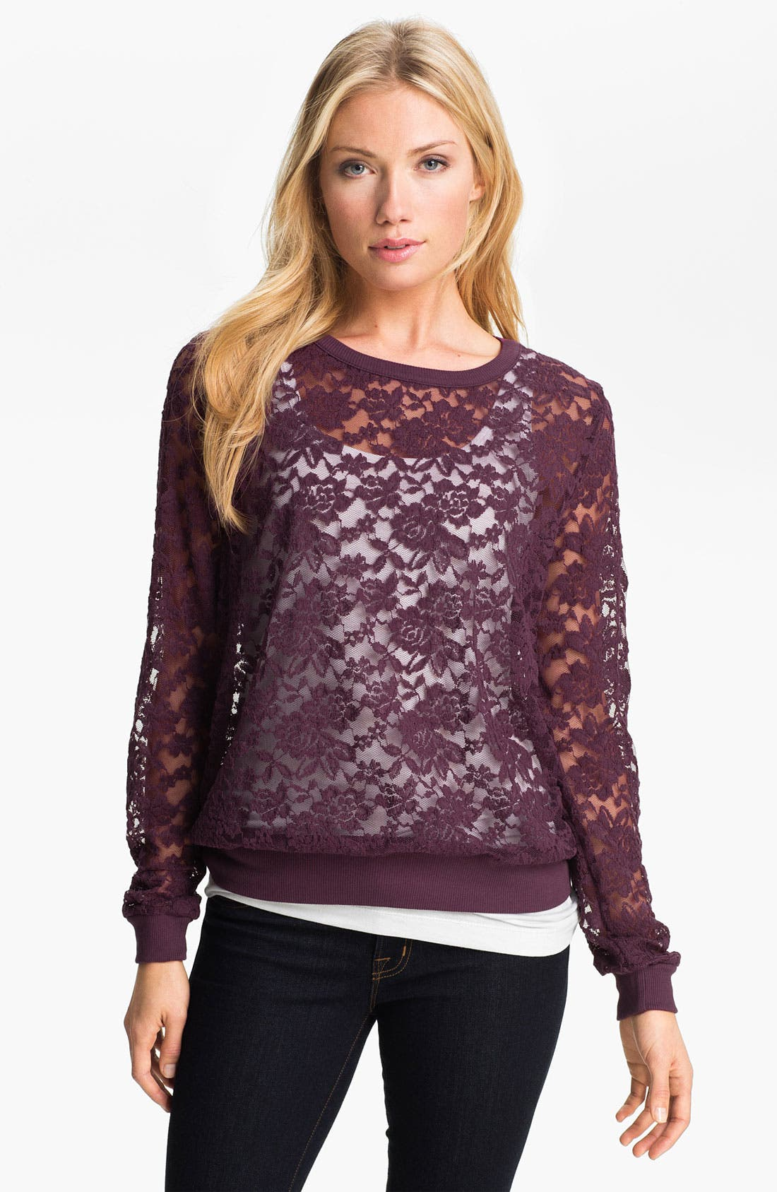 Alternate Image 1 Selected - MOD.lusive Lace Pullover (Nordstrom Exclusive)
