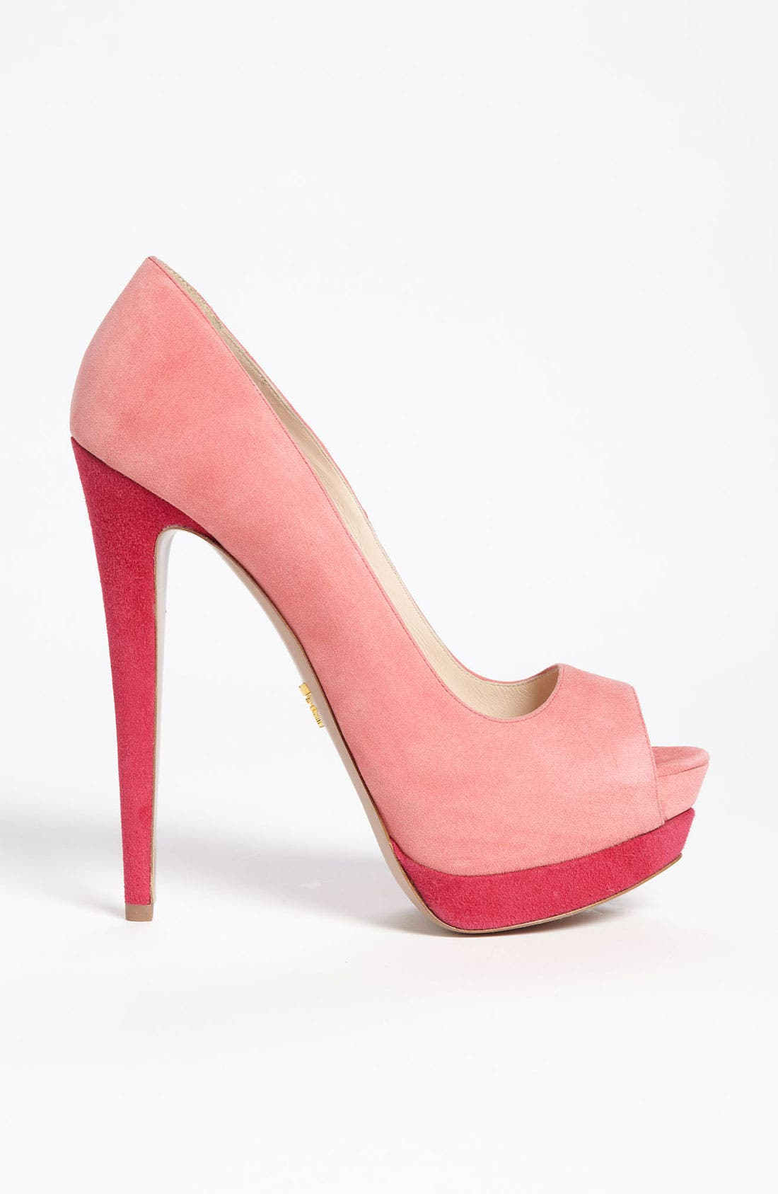 Alternate Image 3  - Prada Bicolor Peep Toe Pump