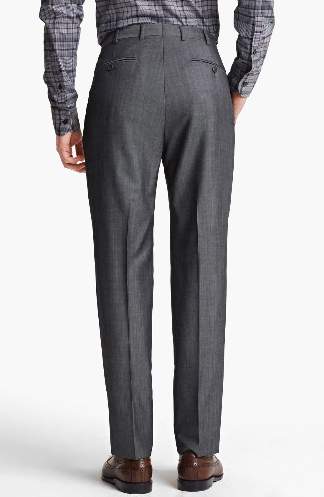Alternate Image 5  - Z Zegna Trim Fit Wool Blend Suit
