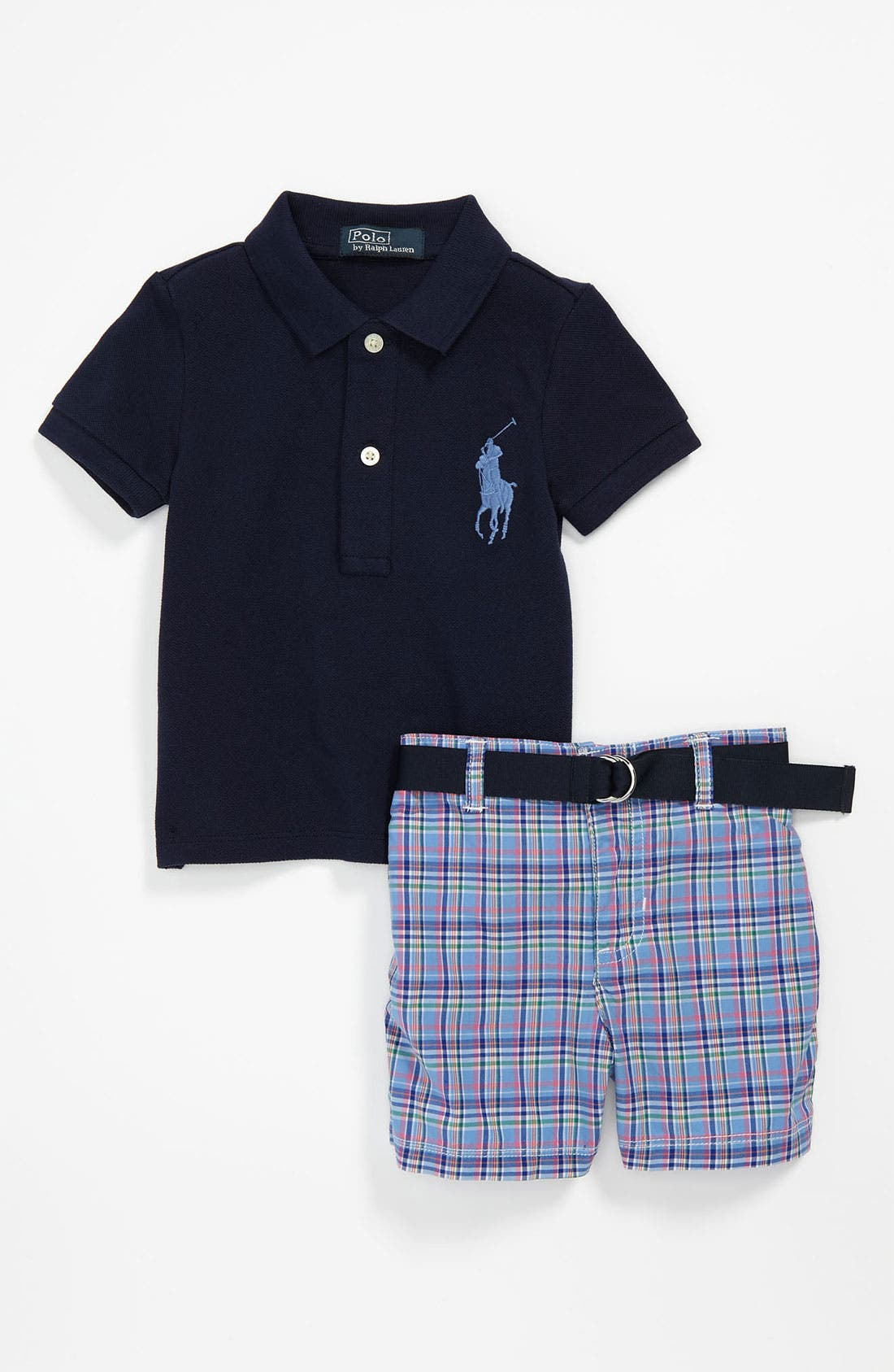 Alternate Image 1 Selected - Ralph Lauren Polo & Shorts (Infant)