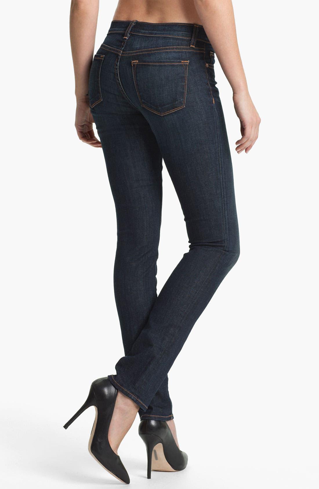 Alternate Image 2  - J Brand '8112' Mid-Rise Stove Pipe Jeans (Dark Vintage)