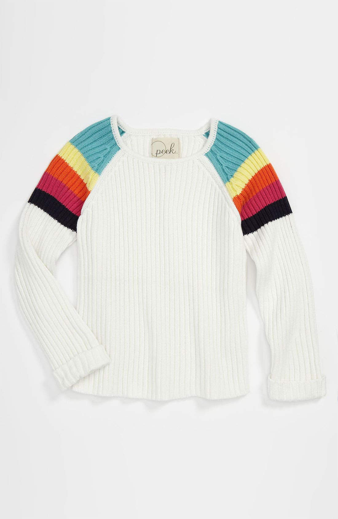 Main Image - Peek 'Rainbow' Sweater (Toddler, Little Girls & Big Girls)