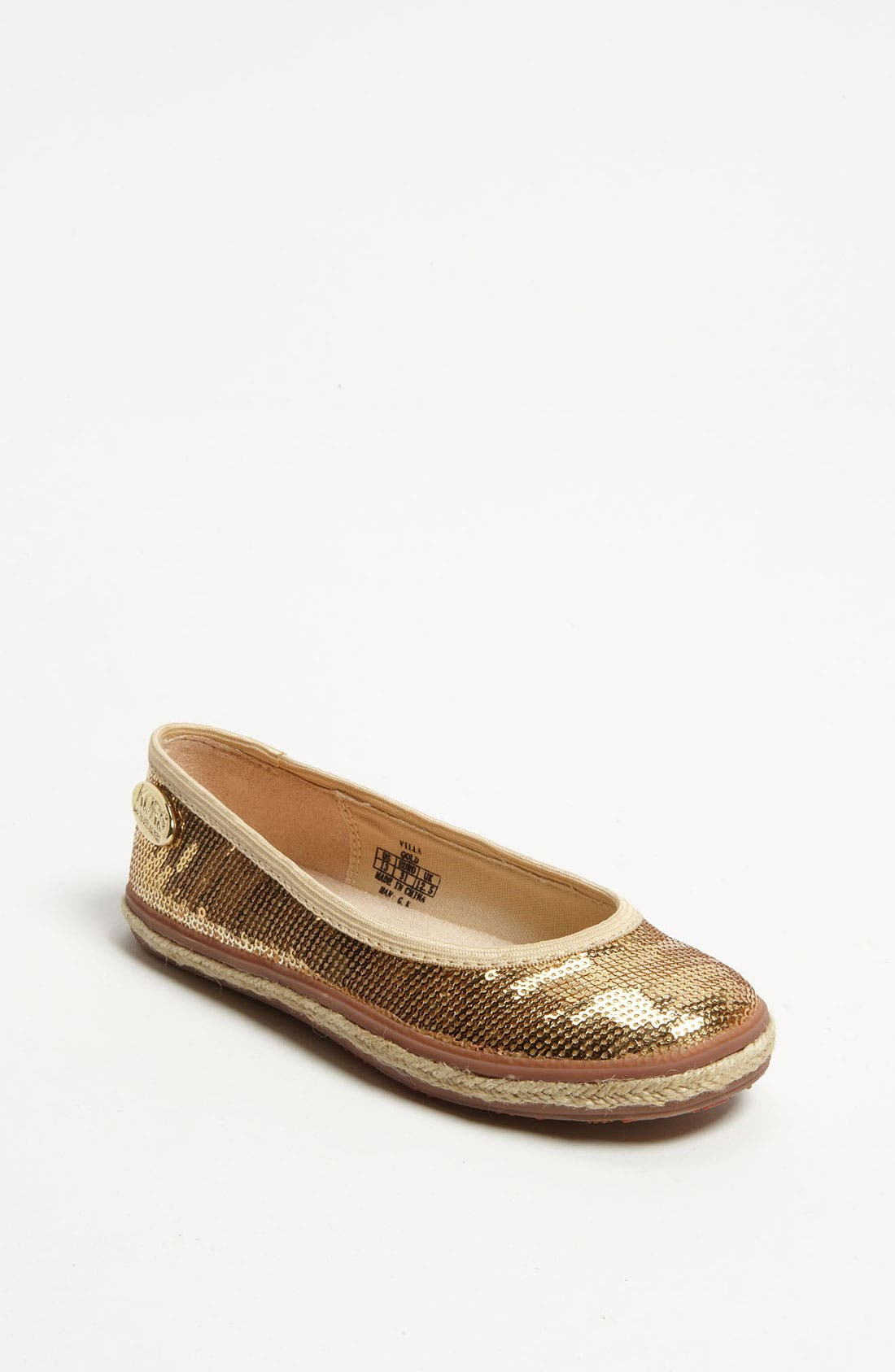 Main Image - KORS Michael Kors 'Villa' Flat (Toddler, Little Kid & Big Kid)