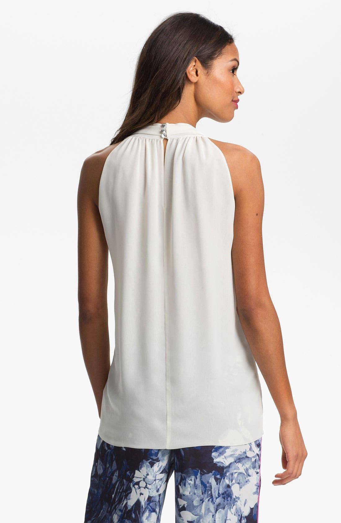Alternate Image 4  - Vince Camuto Sleeveless V-Neck Blouse (Regular & Petite)