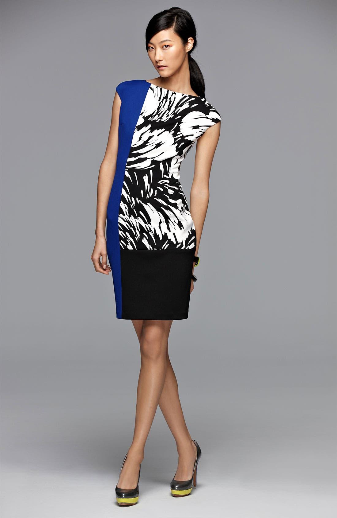 Alternate Image 4  - Maggy London Colorblock Print Sheath Dress