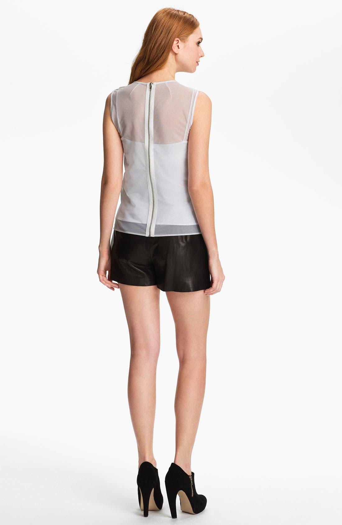 Alternate Image 5  - Milly 'Kelsey' Leather Shorts