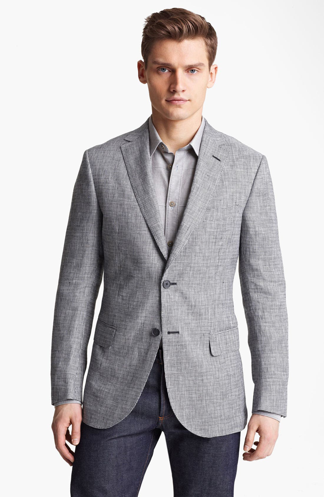 Alternate Image 1 Selected - Z Zegna Trim Fit Linen Sportcoat