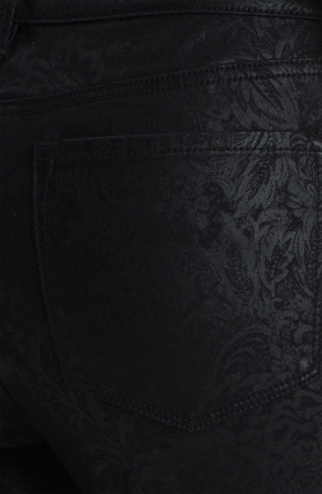 Alternate Image 3  - NYDJ 'Sheri - Metallic Gilded Lily' Twill Skinny Jeans (Petite)