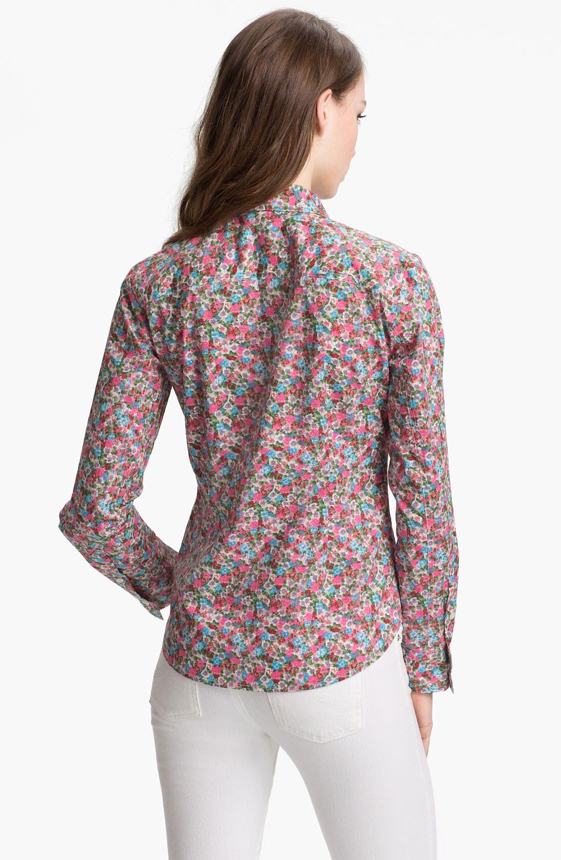 Alternate Image 2  - Sandra Ingrish Cotton Shirt (Petite)